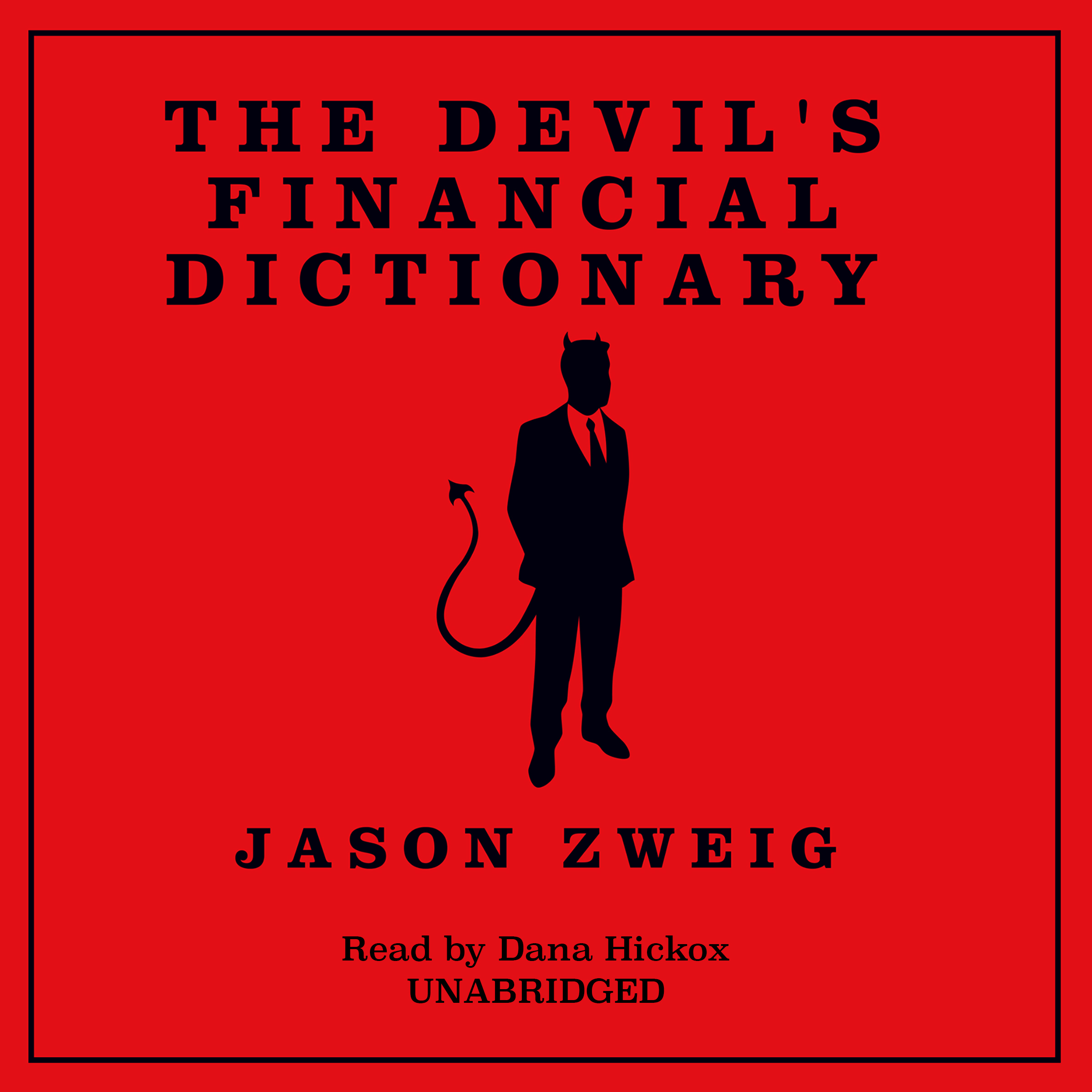 Printable The Devil's Financial Dictionary Audiobook Cover Art
