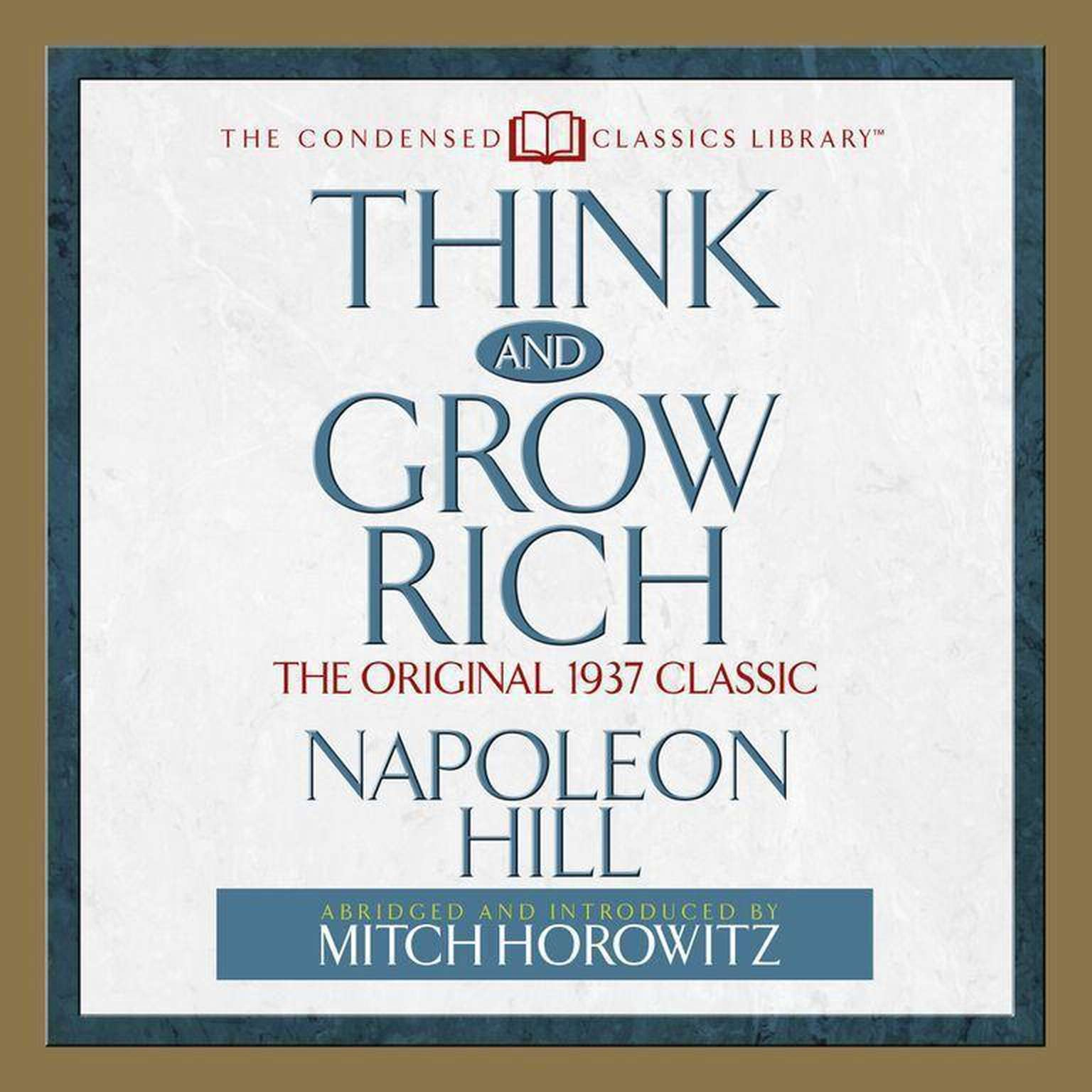 Printable Think and Grow Rich: The Original 1937 Classic Audiobook Cover Art