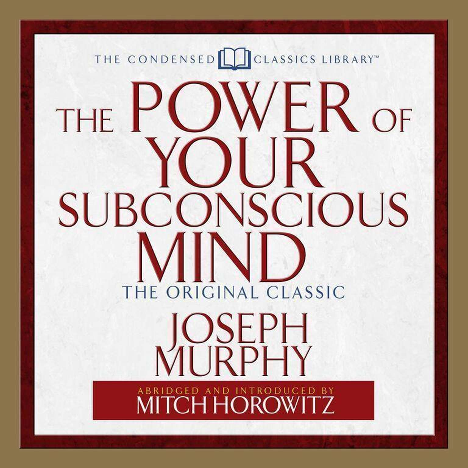 Printable The Power of Your Subconscious Mind: The Original Classic Audiobook Cover Art