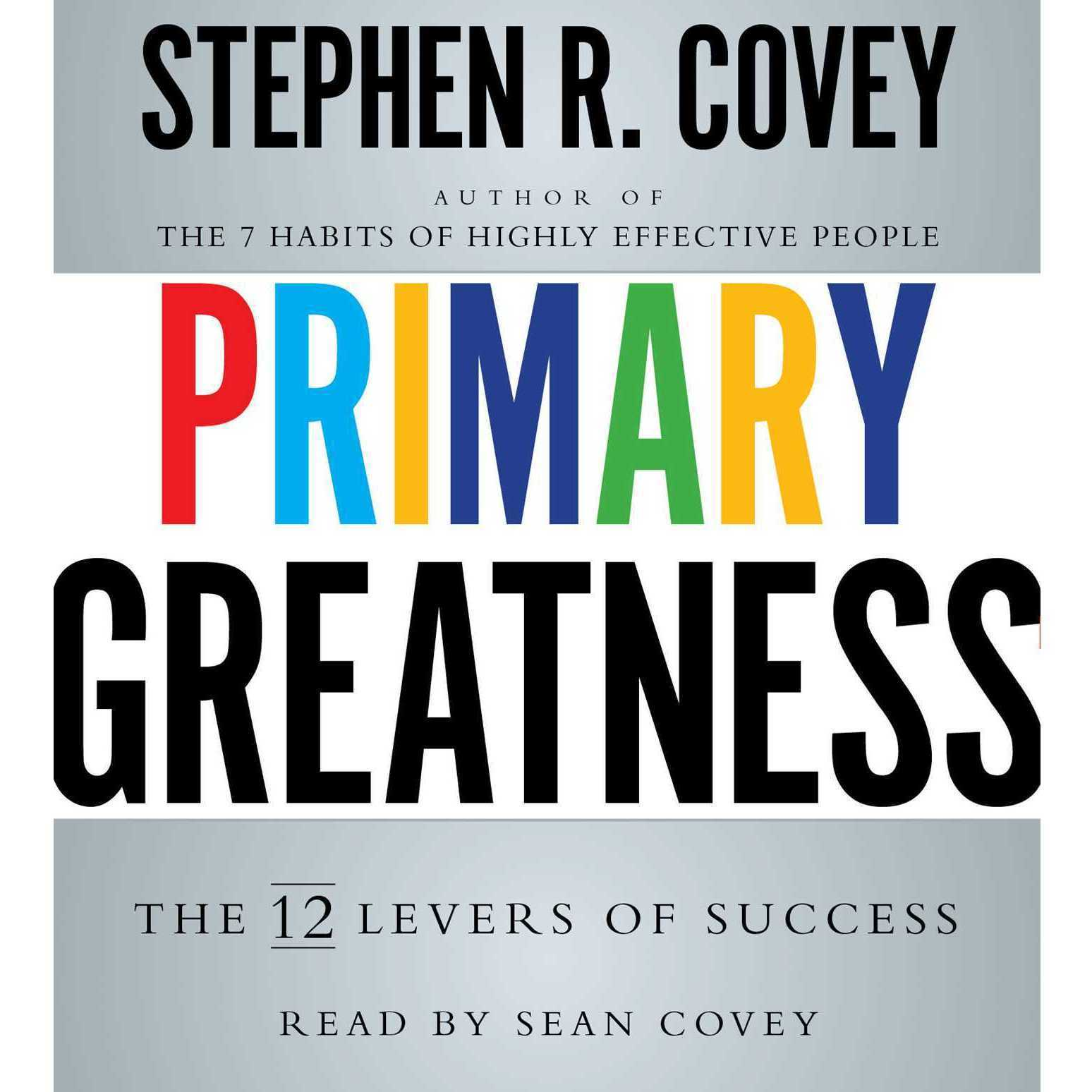 Printable Primary Greatness: The 12 Levers of Success Audiobook Cover Art