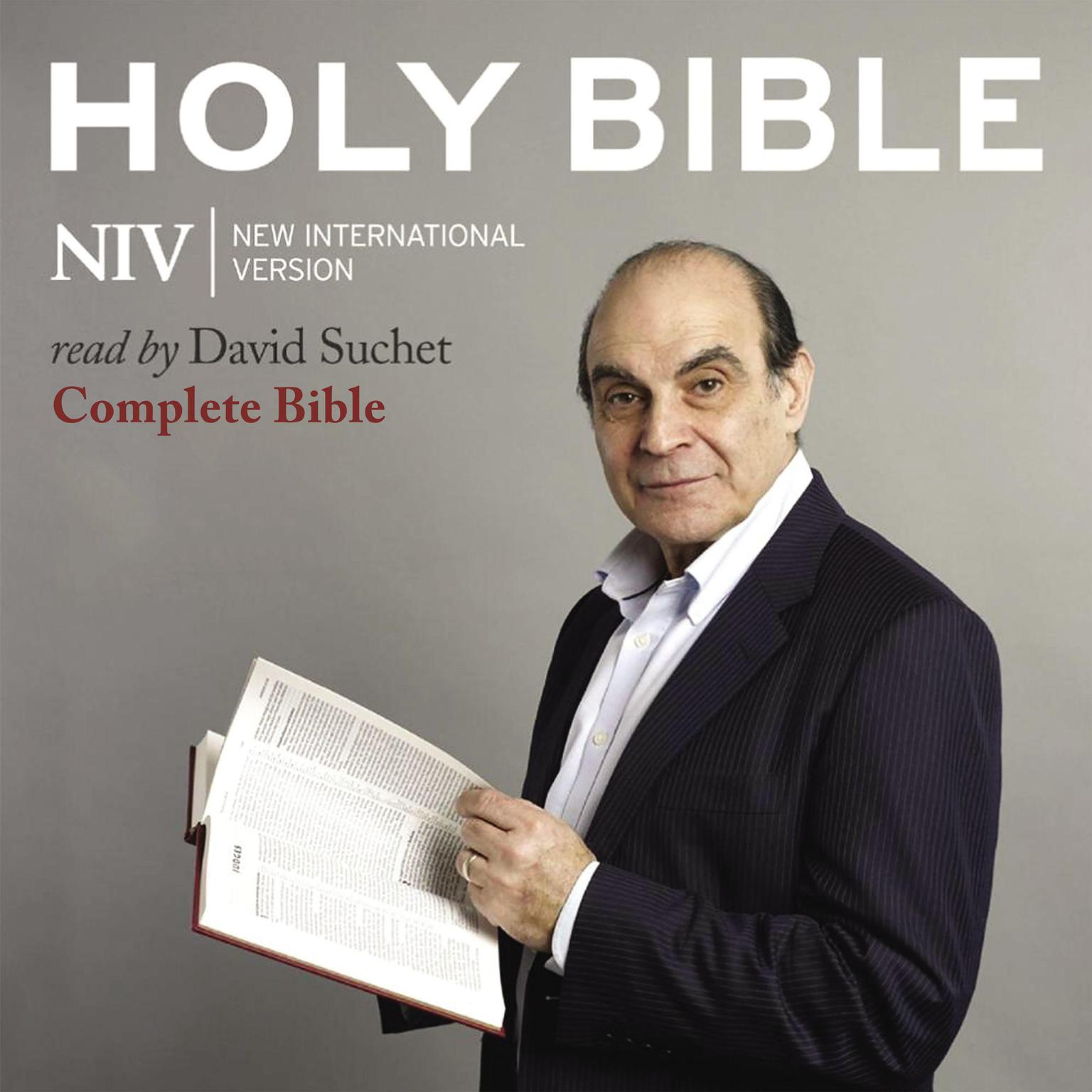 Printable David Suchet Audio Bible - New International Version, NIV: Complete Bible Audiobook Cover Art