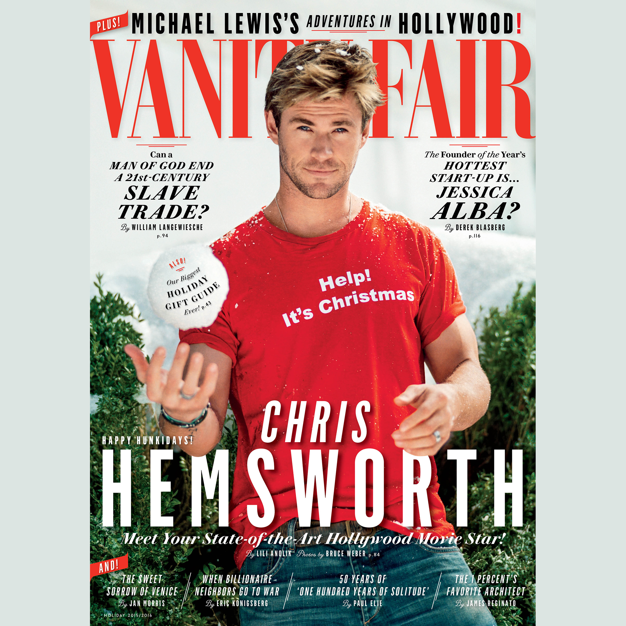 Printable Vanity Fair: January 2016 Issue Audiobook Cover Art