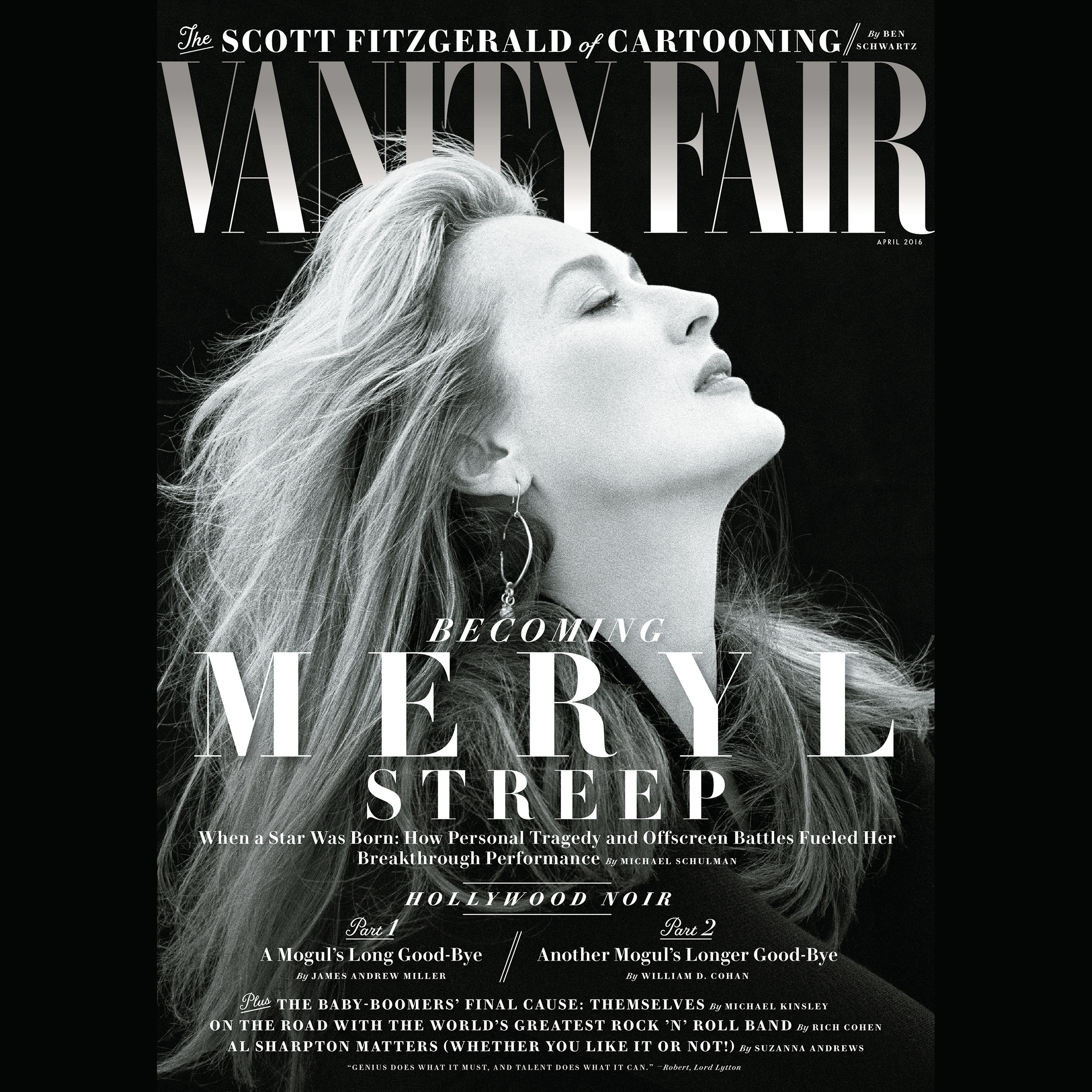 Printable Vanity Fair: April 2016 Issue Audiobook Cover Art