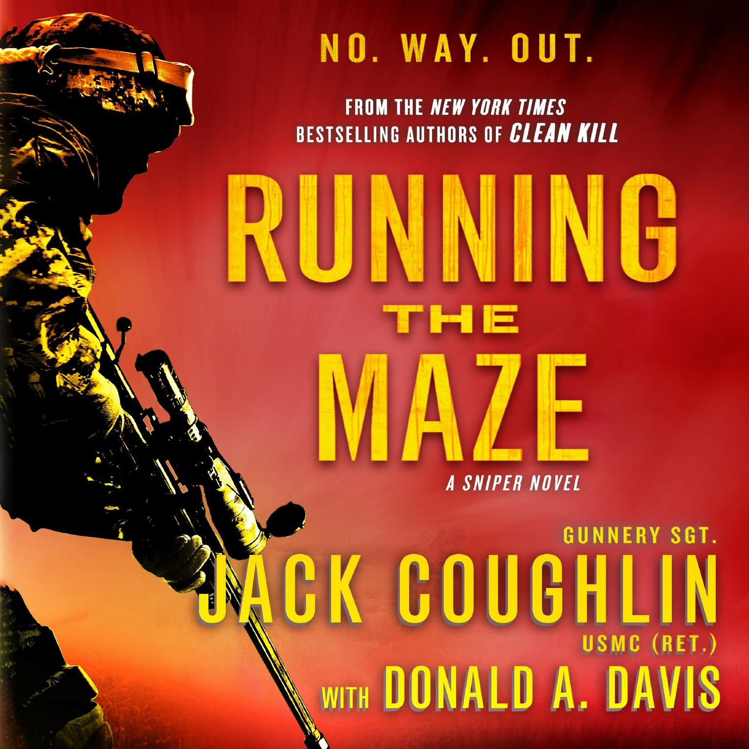 Printable Running the Maze: A Sniper Novel Audiobook Cover Art