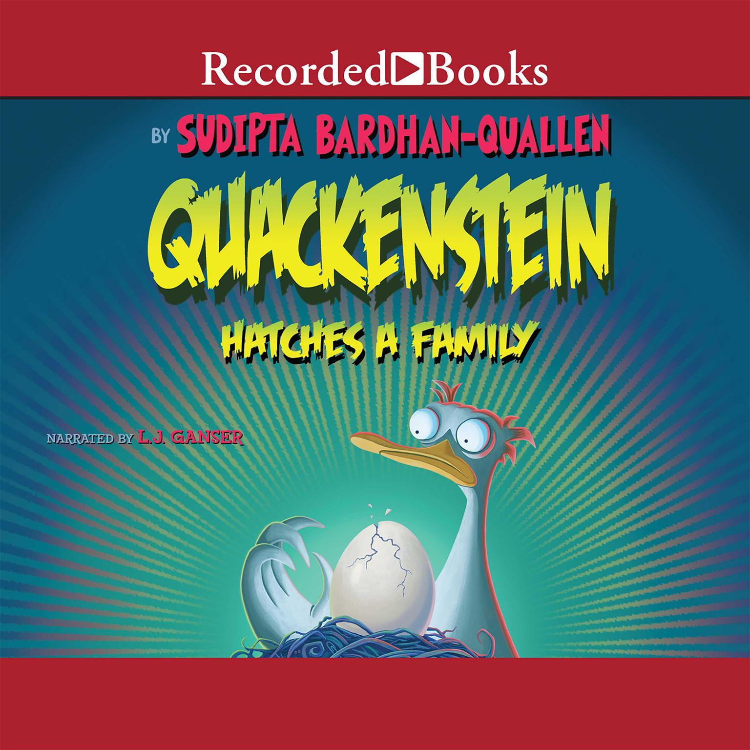 Printable Quackenstein Hatches a Family Audiobook Cover Art