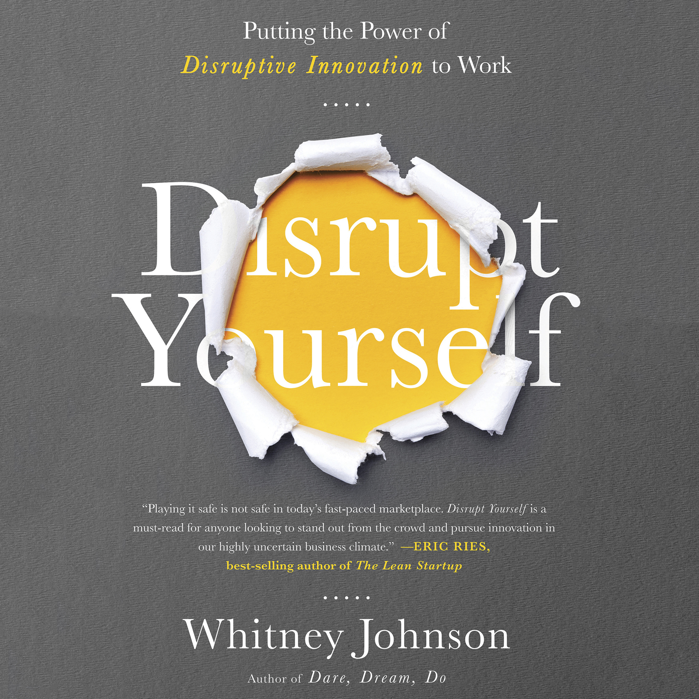 Printable Disrupt Yourself: Putting the Power of Disruptive Innovation to Work Audiobook Cover Art