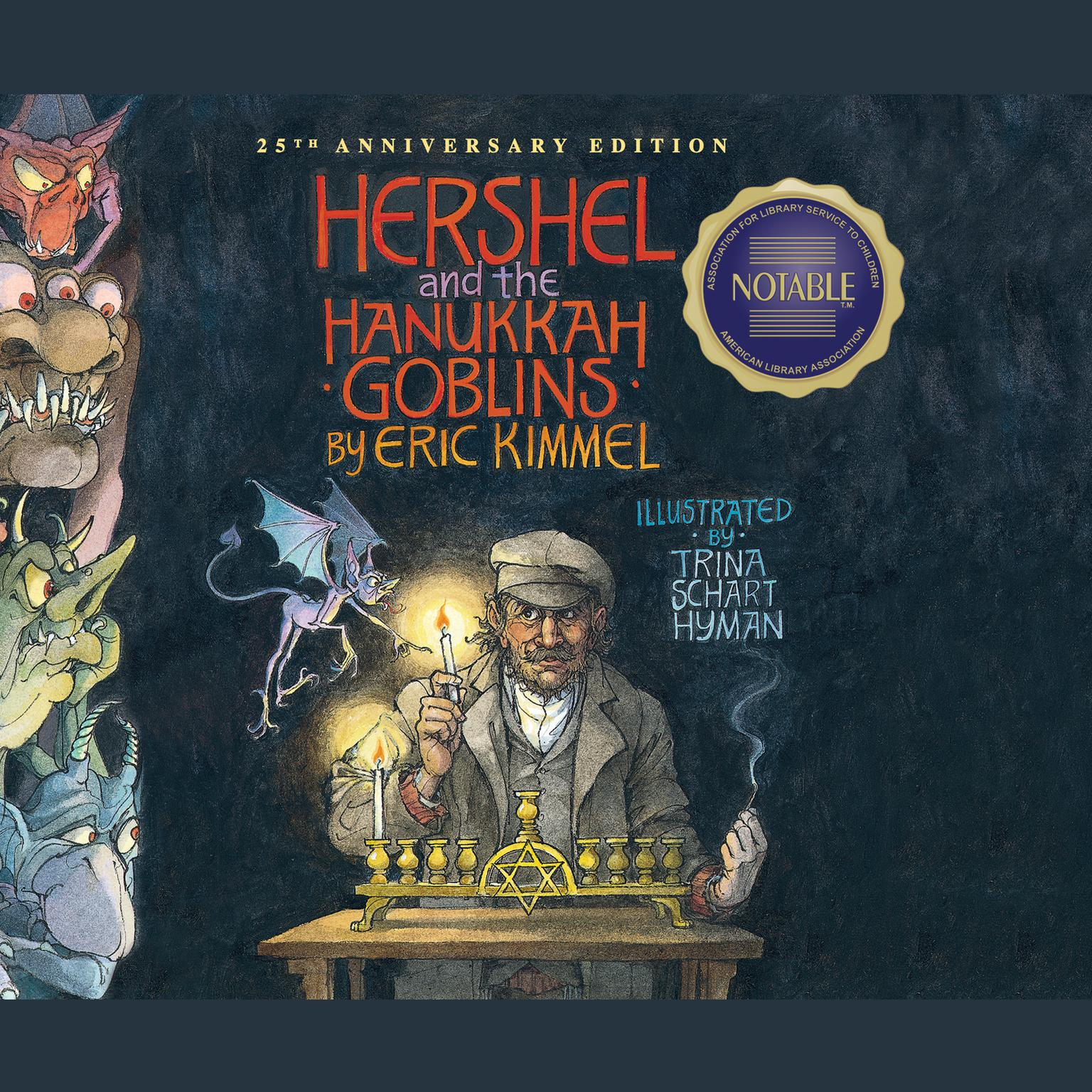Printable Hershel and the Hanukkah Goblins Audiobook Cover Art