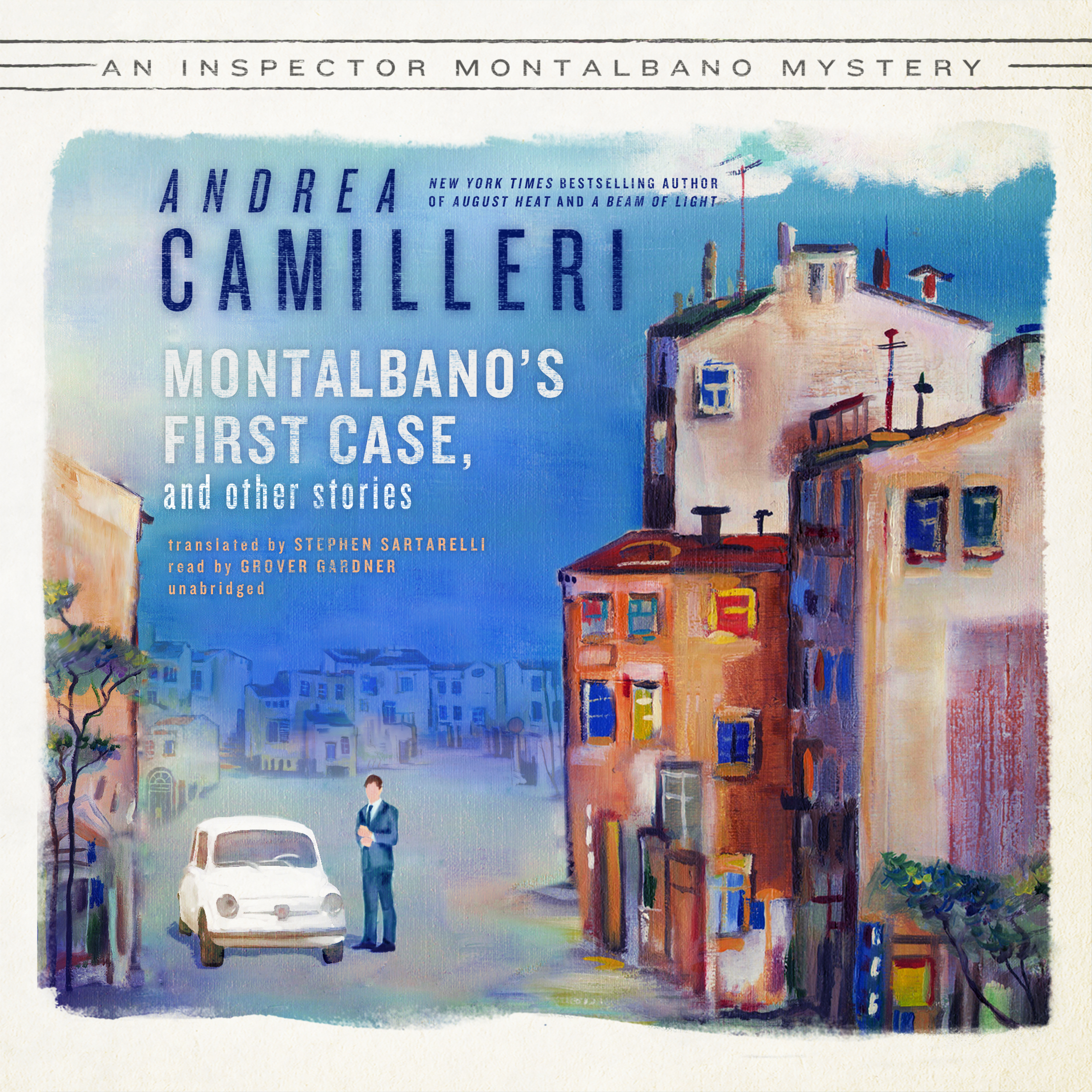 Printable Montalbano's First Case, and Other Stories Audiobook Cover Art