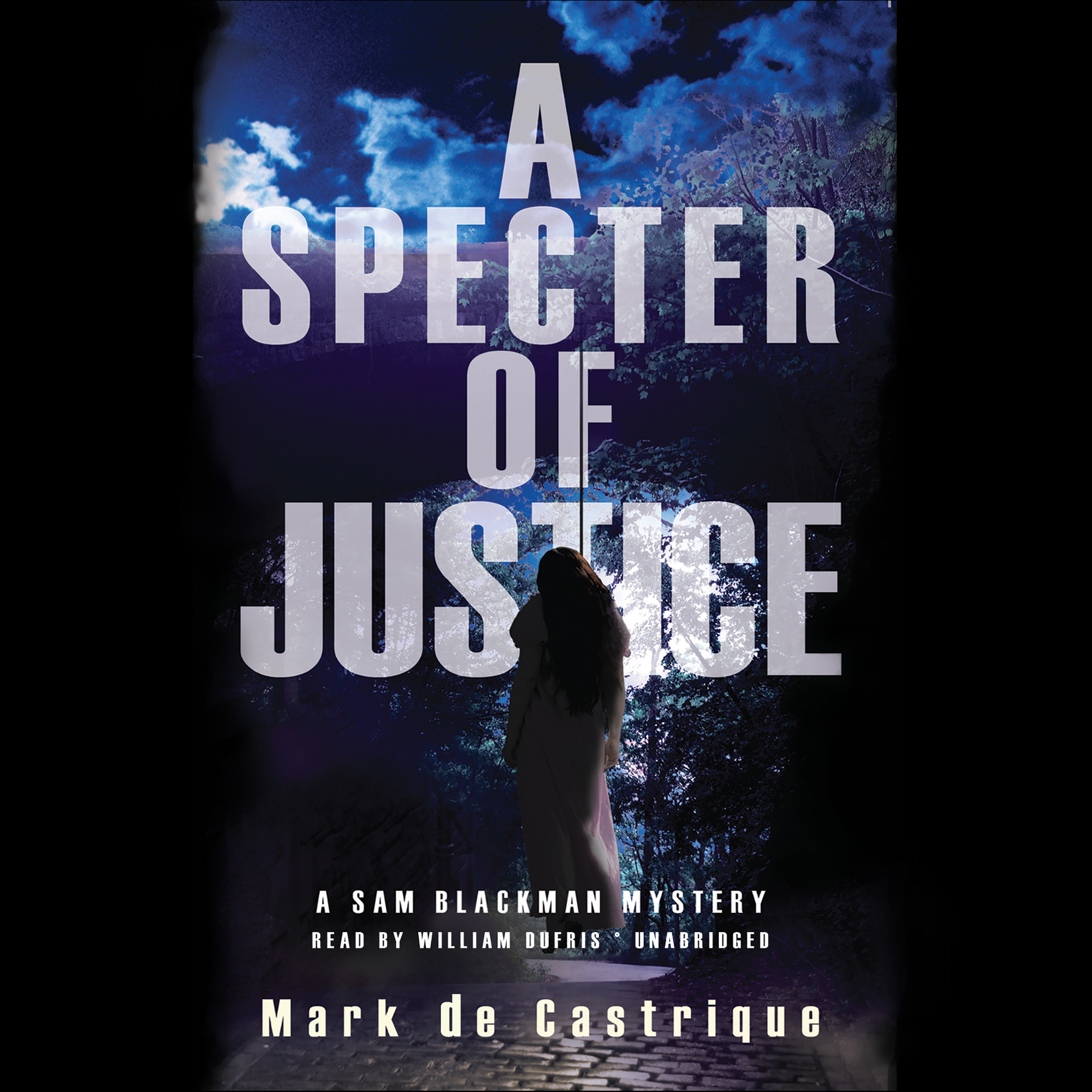 Printable A Specter of Justice: A Sam Blackman Mystery Audiobook Cover Art