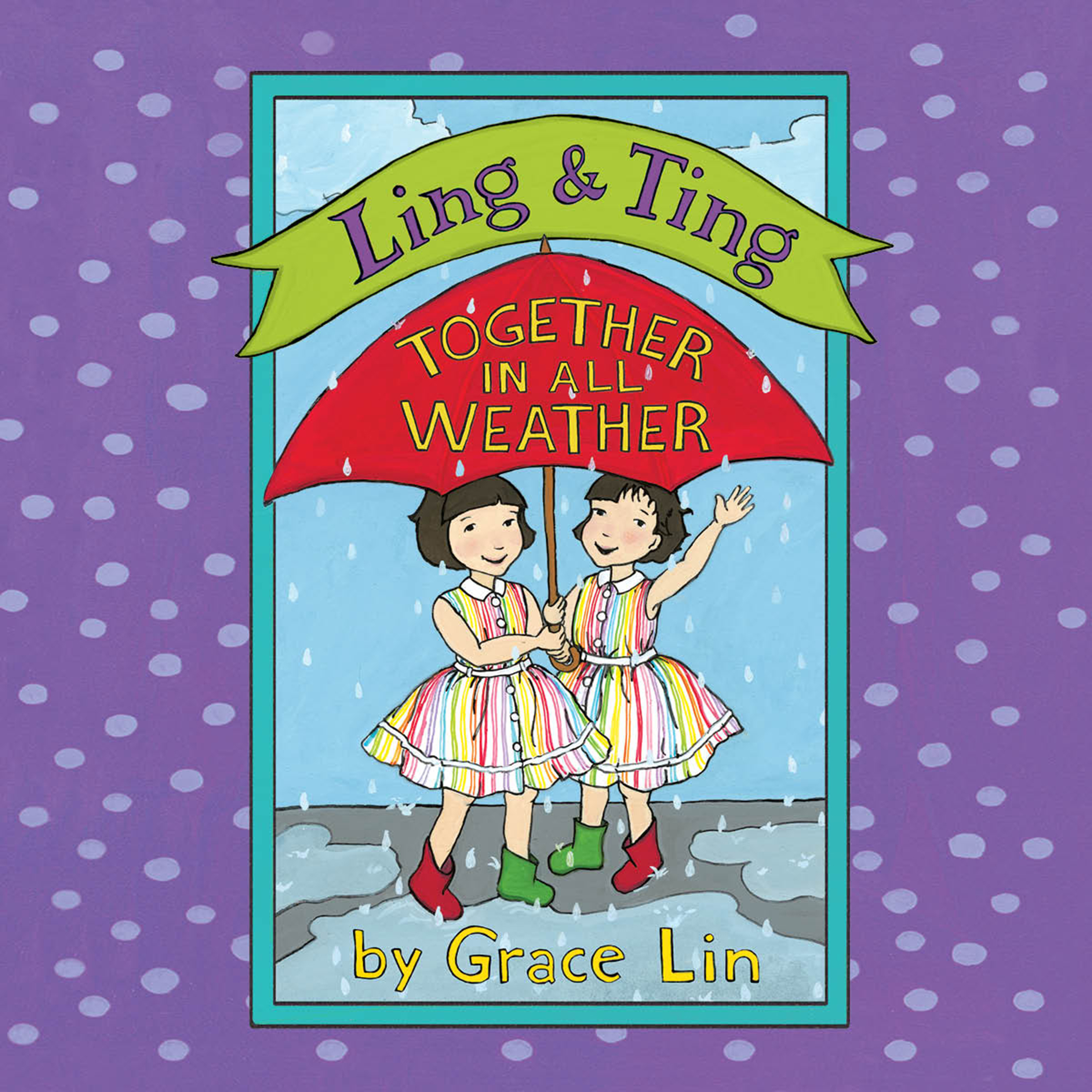 Printable Ling & Ting: Together in All Weather Audiobook Cover Art