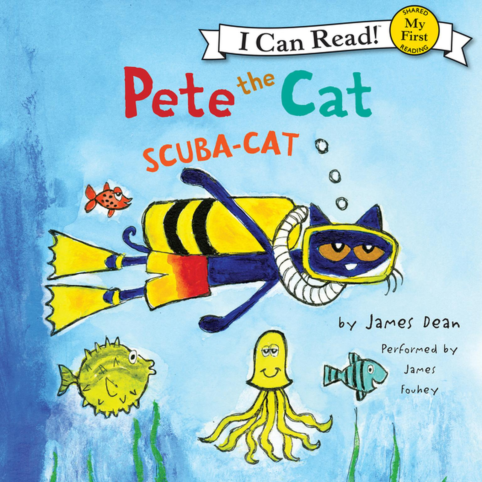 Printable Pete the Cat: Scuba-Cat: Scuba-Cat Audiobook Cover Art