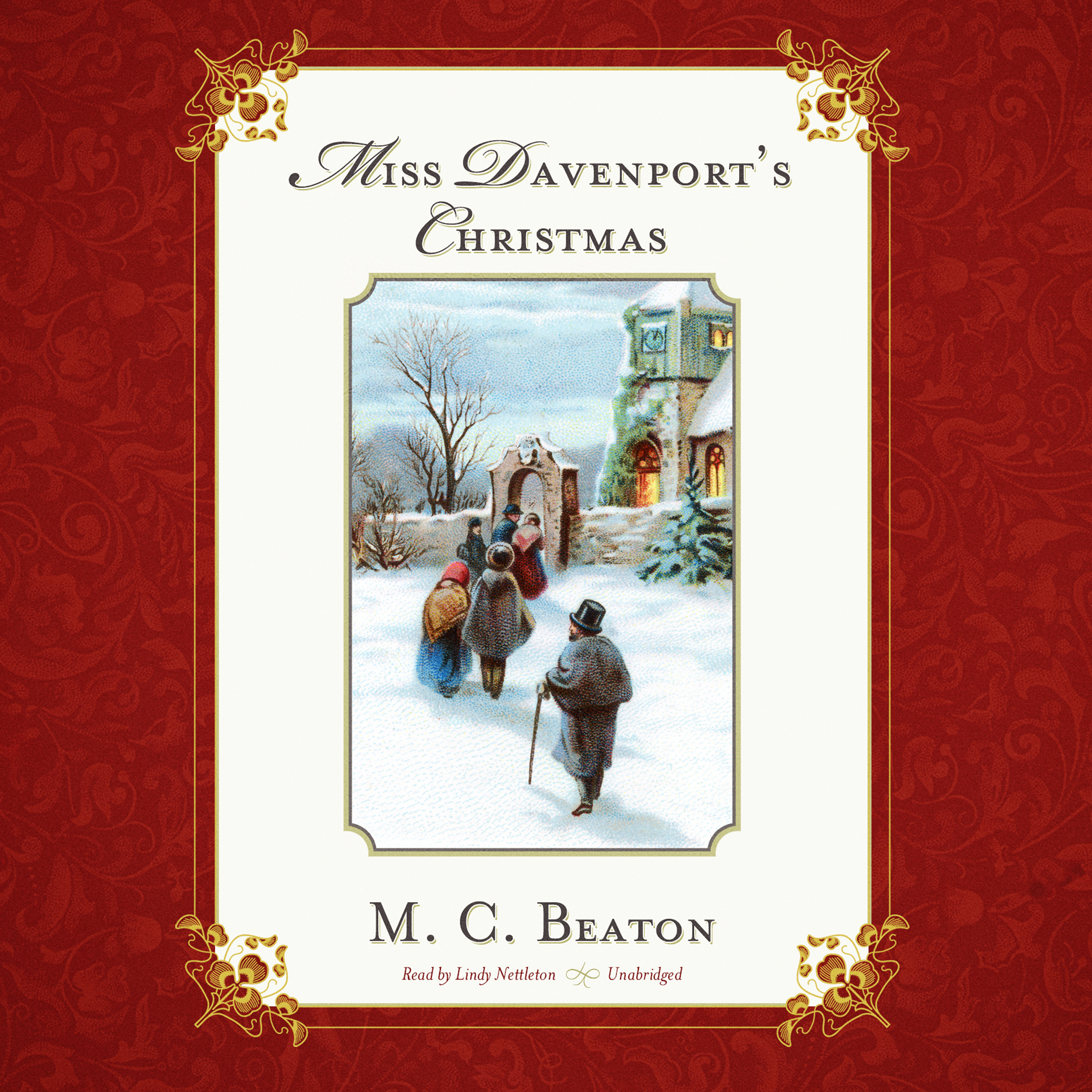 Printable Miss Davenport's Christmas Audiobook Cover Art