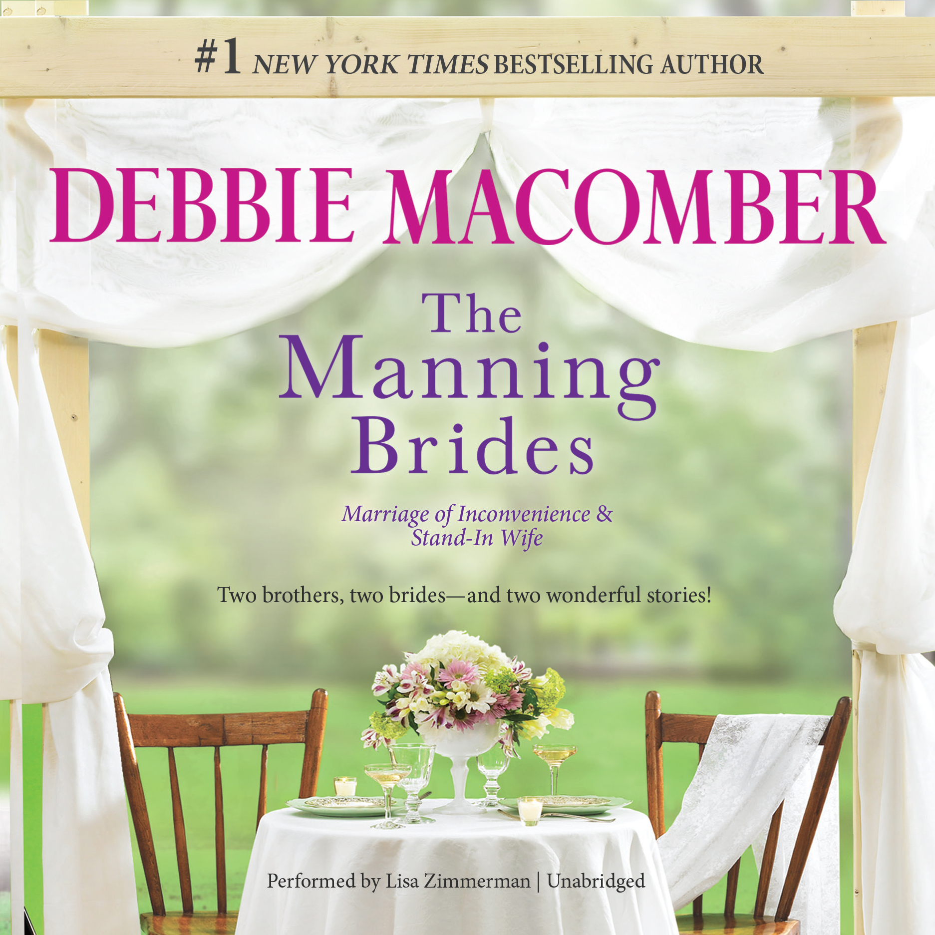 Printable The Manning Brides: Marriage of Inconvenience & Stand-In Wife Audiobook Cover Art