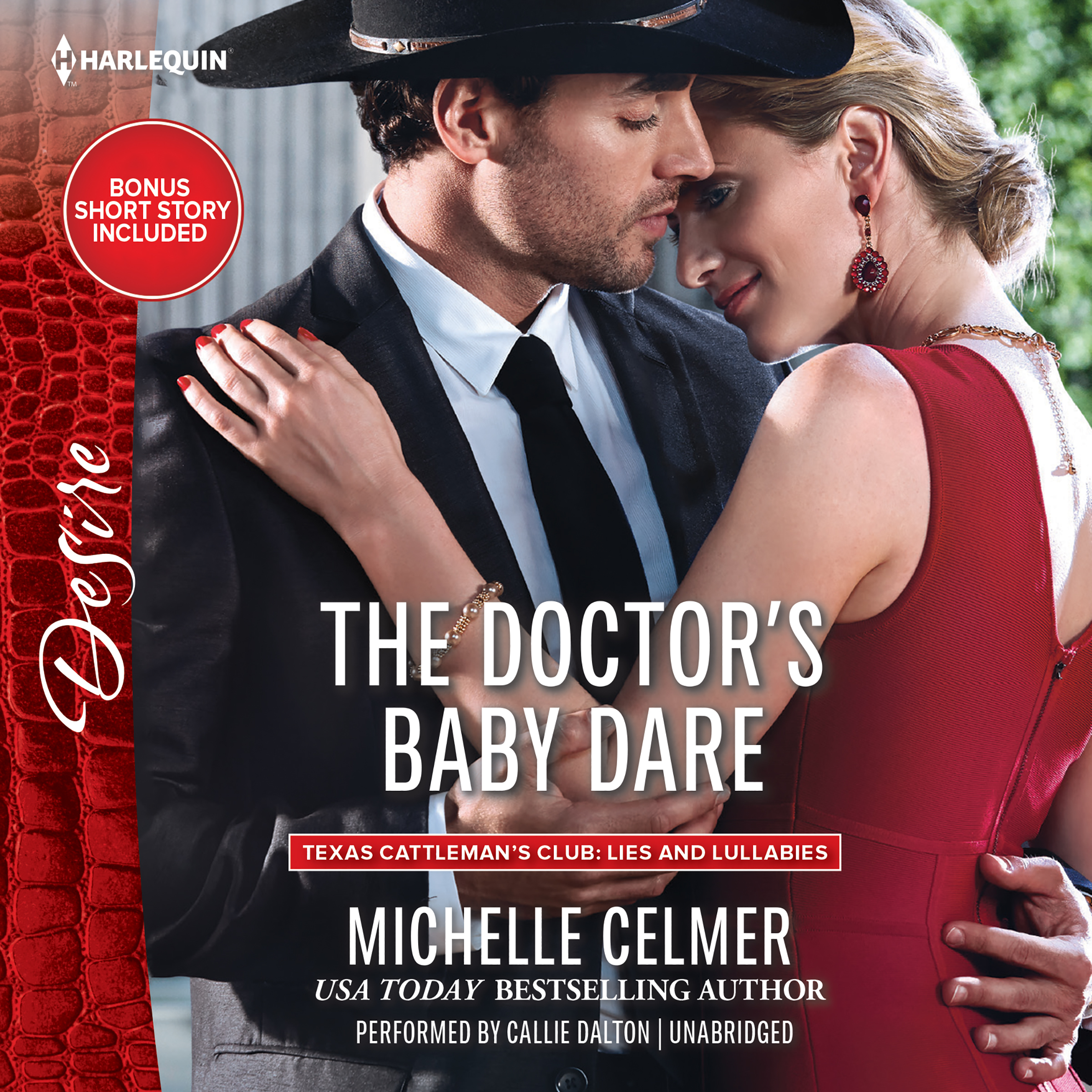 Printable The Doctor's Baby Dare: w/ Bonus Short Story: Never Too Late Audiobook Cover Art