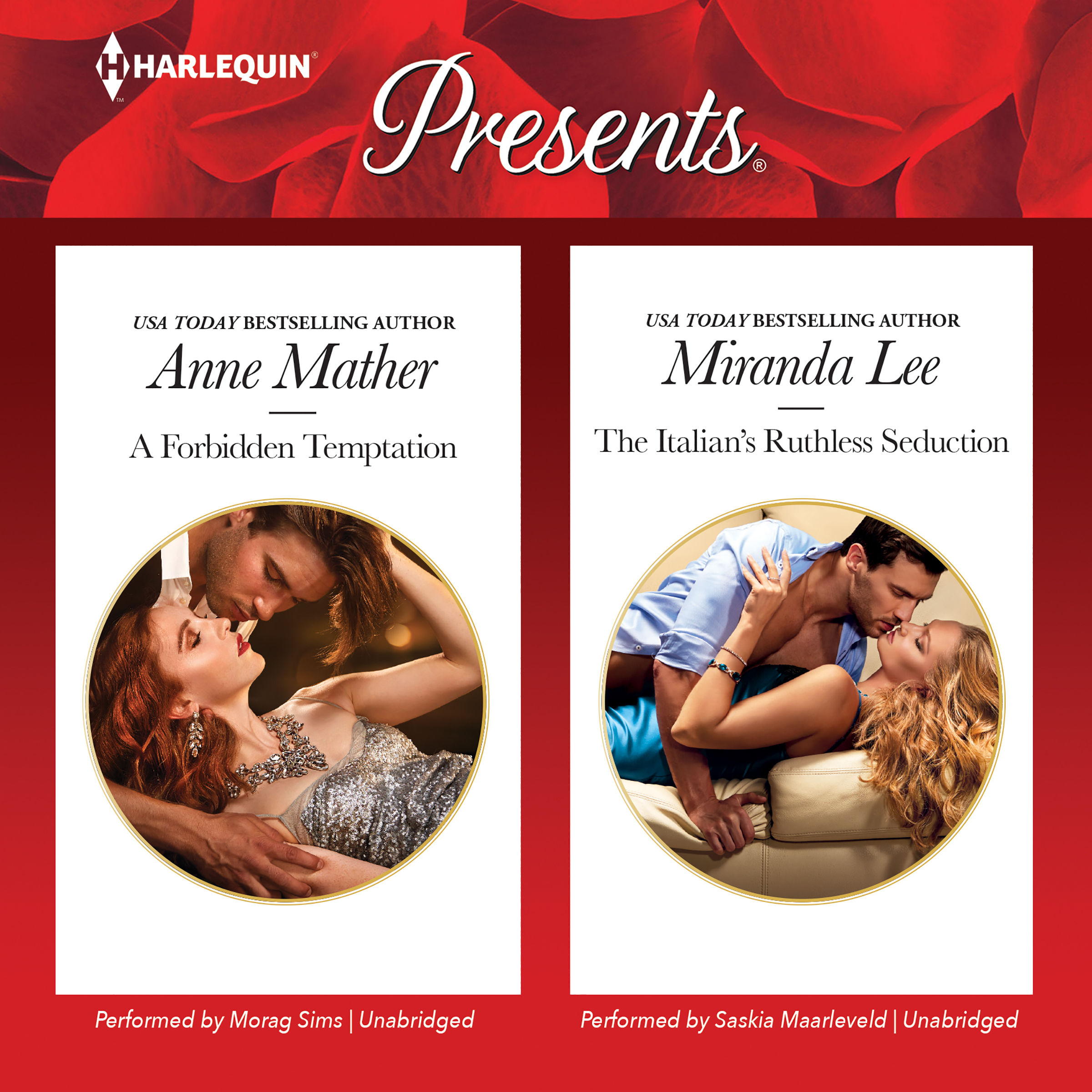 Printable A Forbidden Temptation & The Italian's Ruthless Seduction Audiobook Cover Art
