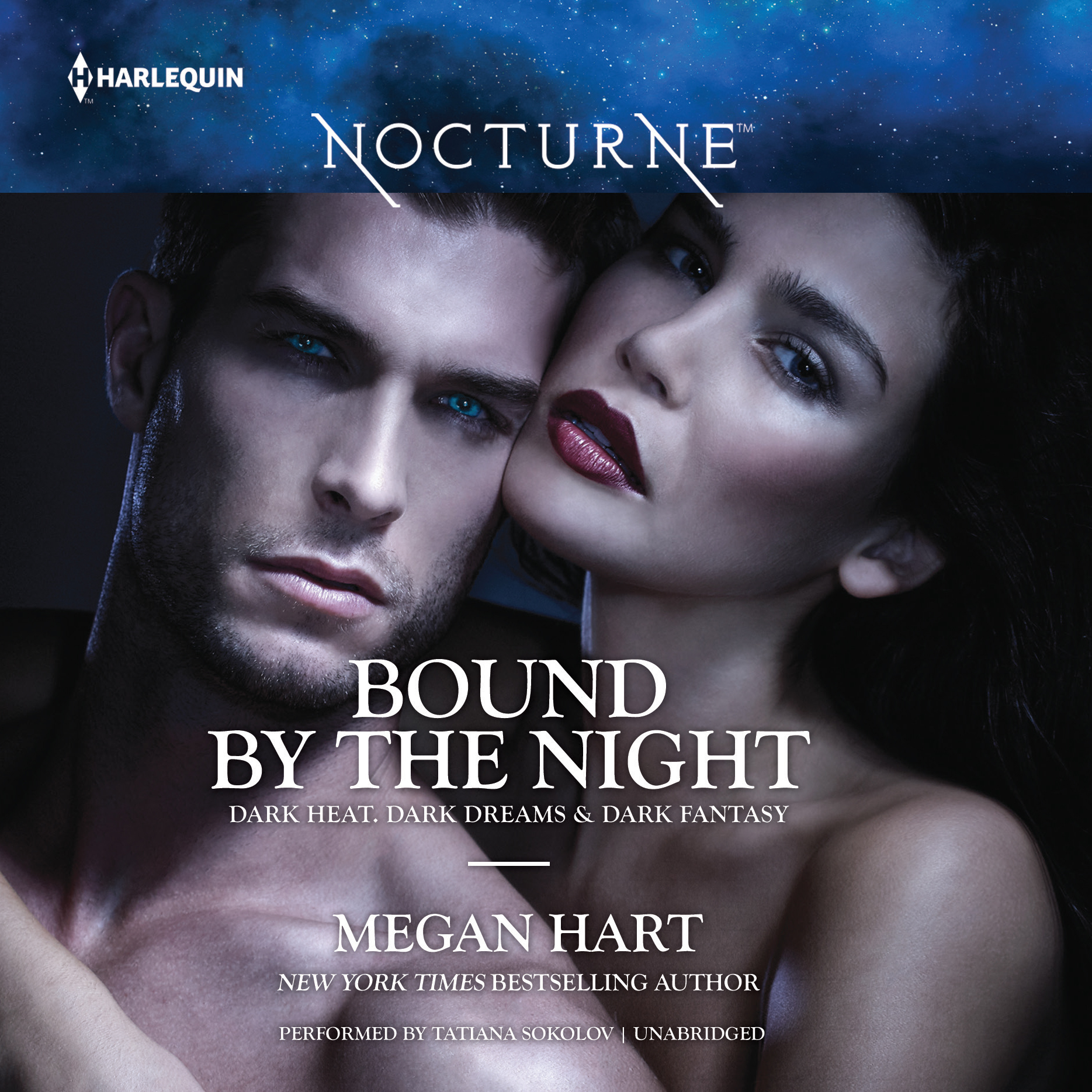 Printable Bound by the Night: Dark Heat, Dark Dreams & Dark Fantasy Audiobook Cover Art