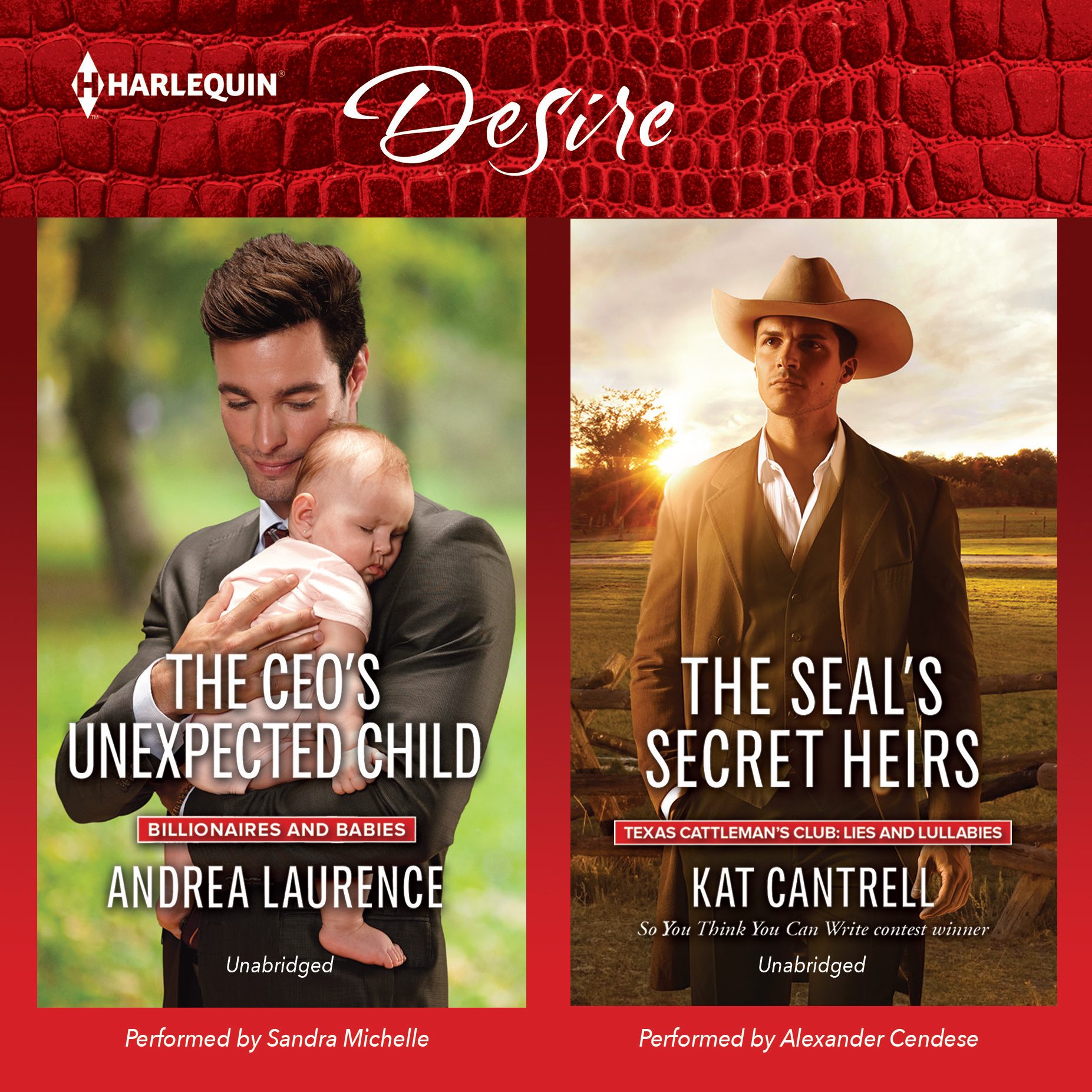 Printable The CEO's Unexpected Child & The SEAL's Secret Heirs Audiobook Cover Art