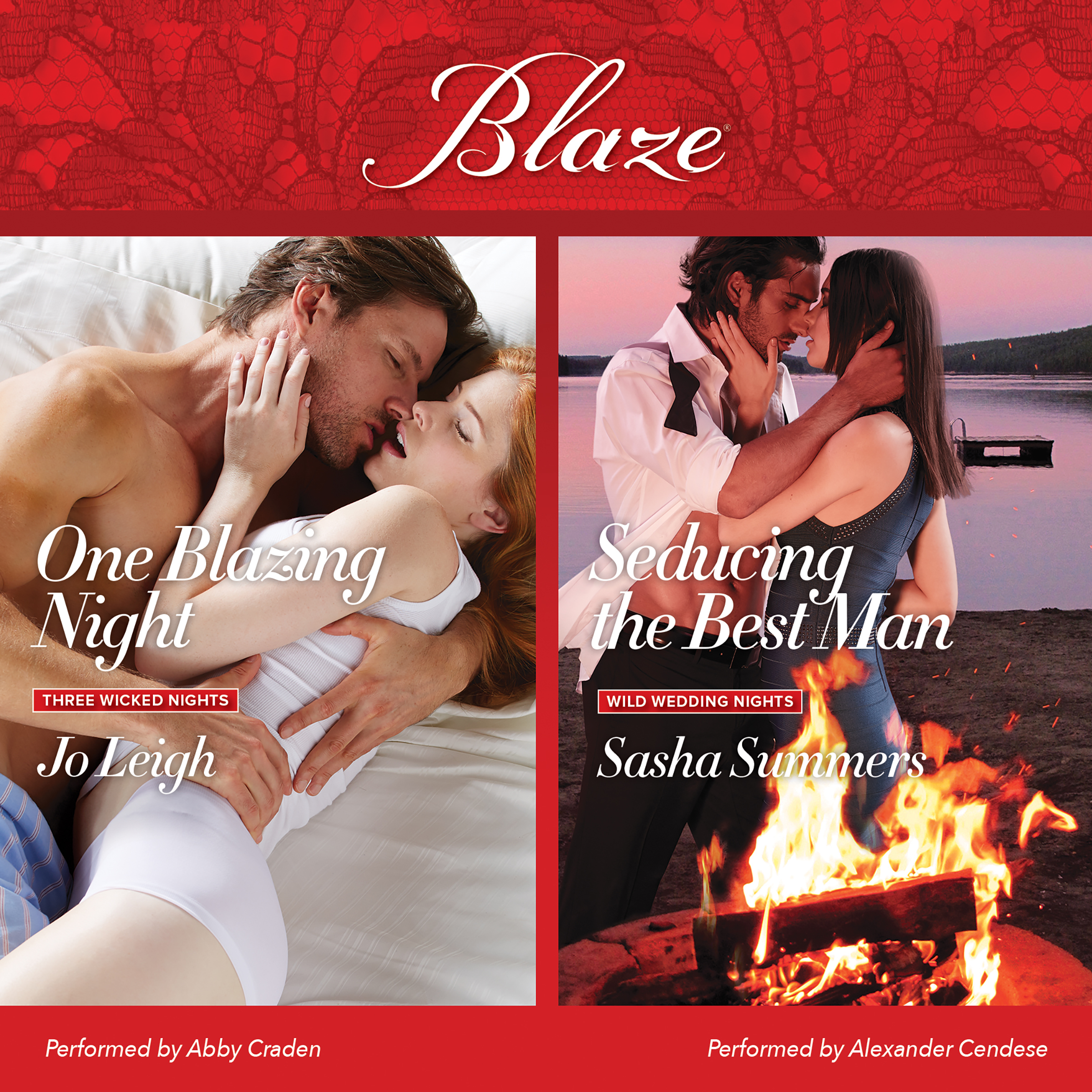 Printable One Blazing Night & Seducing the Best Man Audiobook Cover Art
