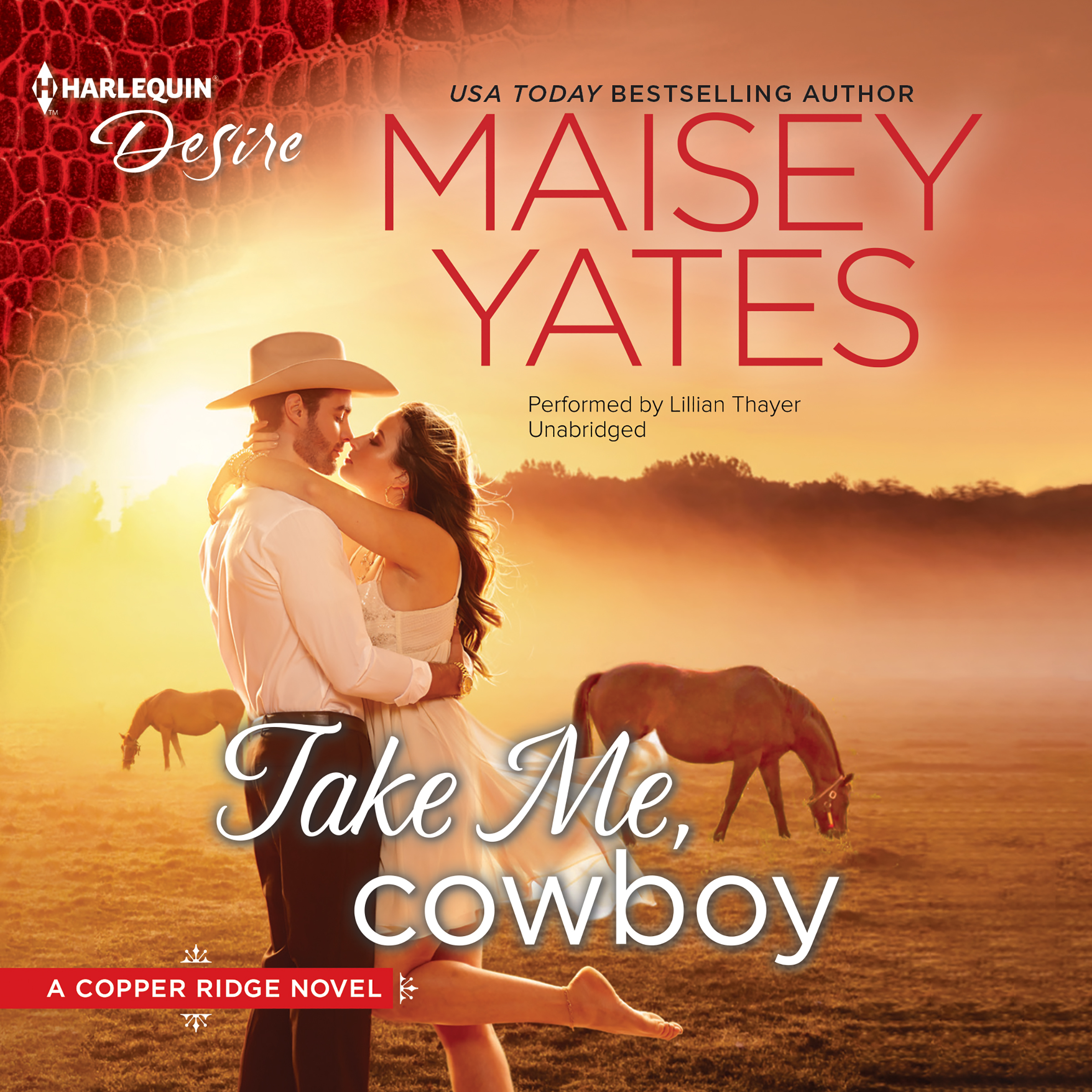 Printable Take Me, Cowboy: (Copper Ridge Series) Audiobook Cover Art