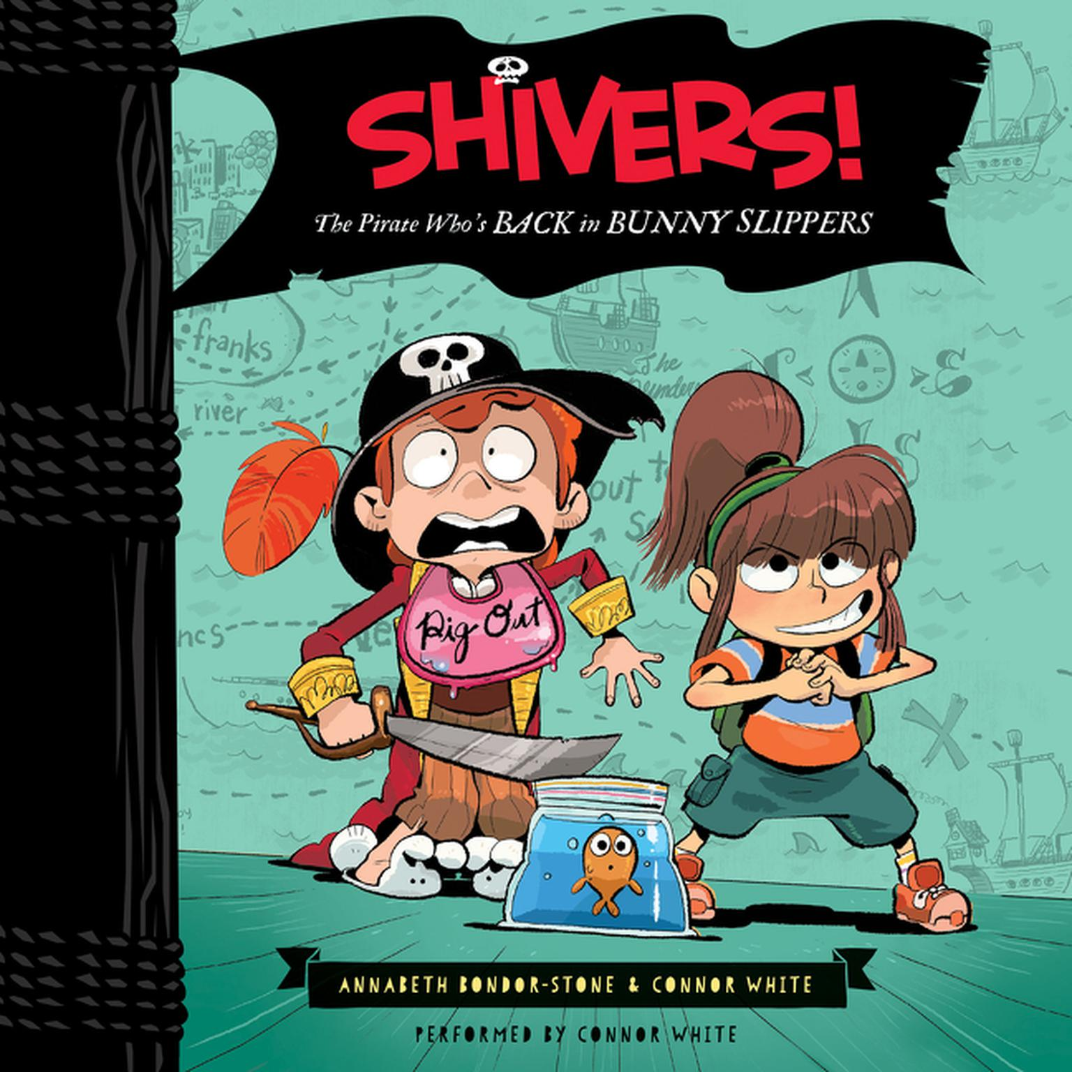 Printable Shivers!: The Pirate Who's Back in Bunny Slippers Audiobook Cover Art