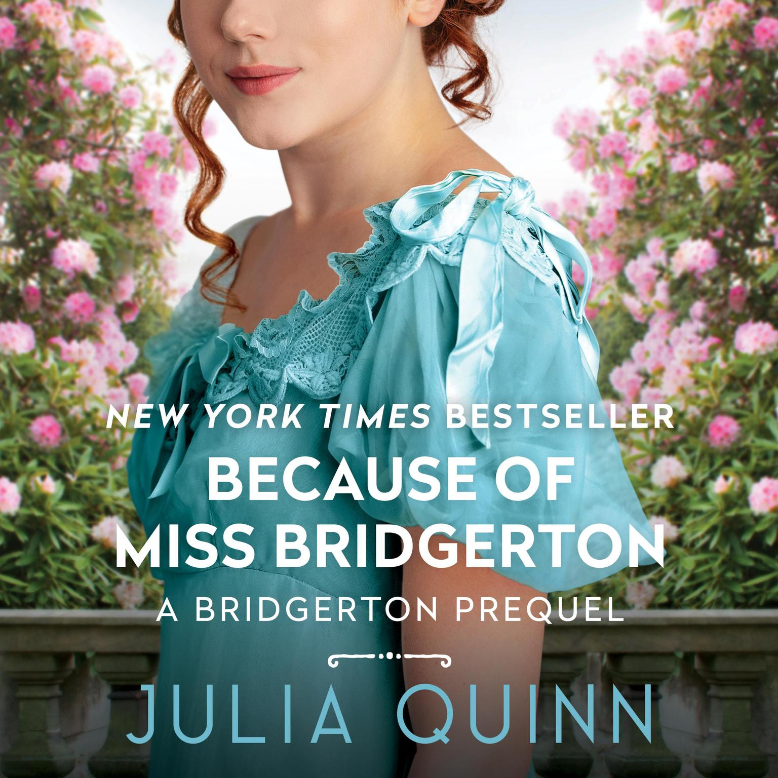 Printable Because of Miss Bridgerton Audiobook Cover Art