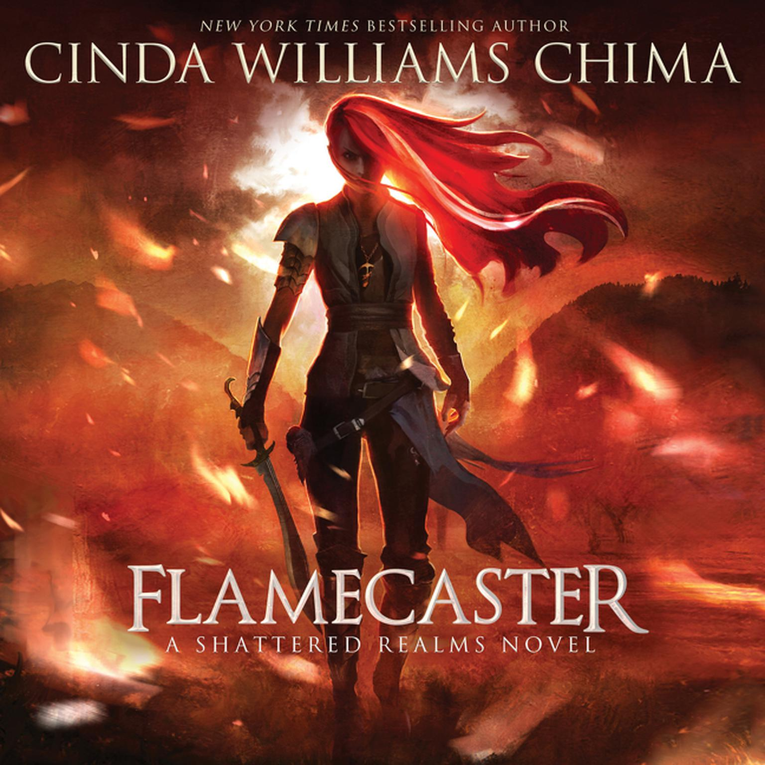 Printable Flamecaster: A Shattered Realms Novel Audiobook Cover Art