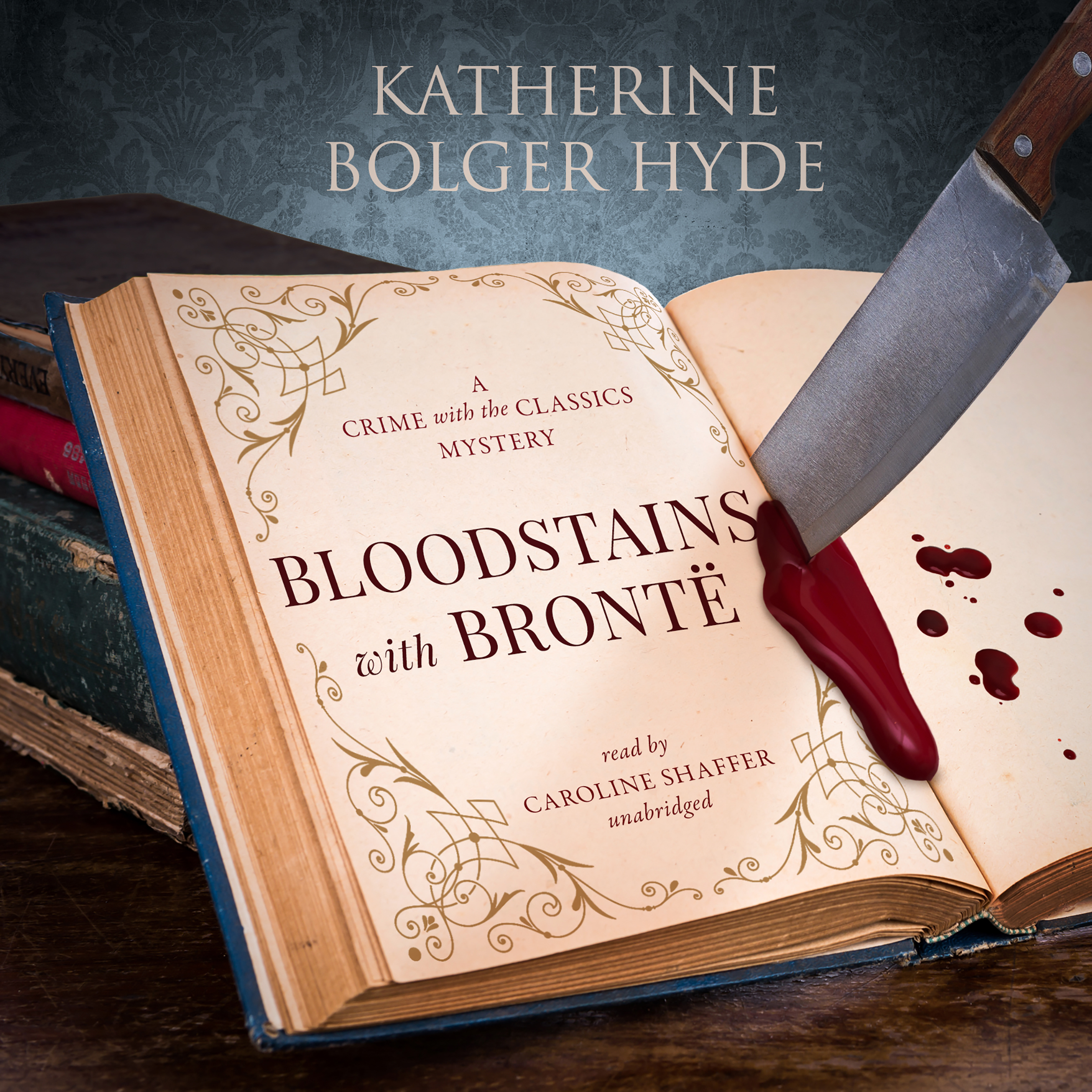 Printable Bloodstains with Brontë: A Crime with the Classics Mystery Audiobook Cover Art