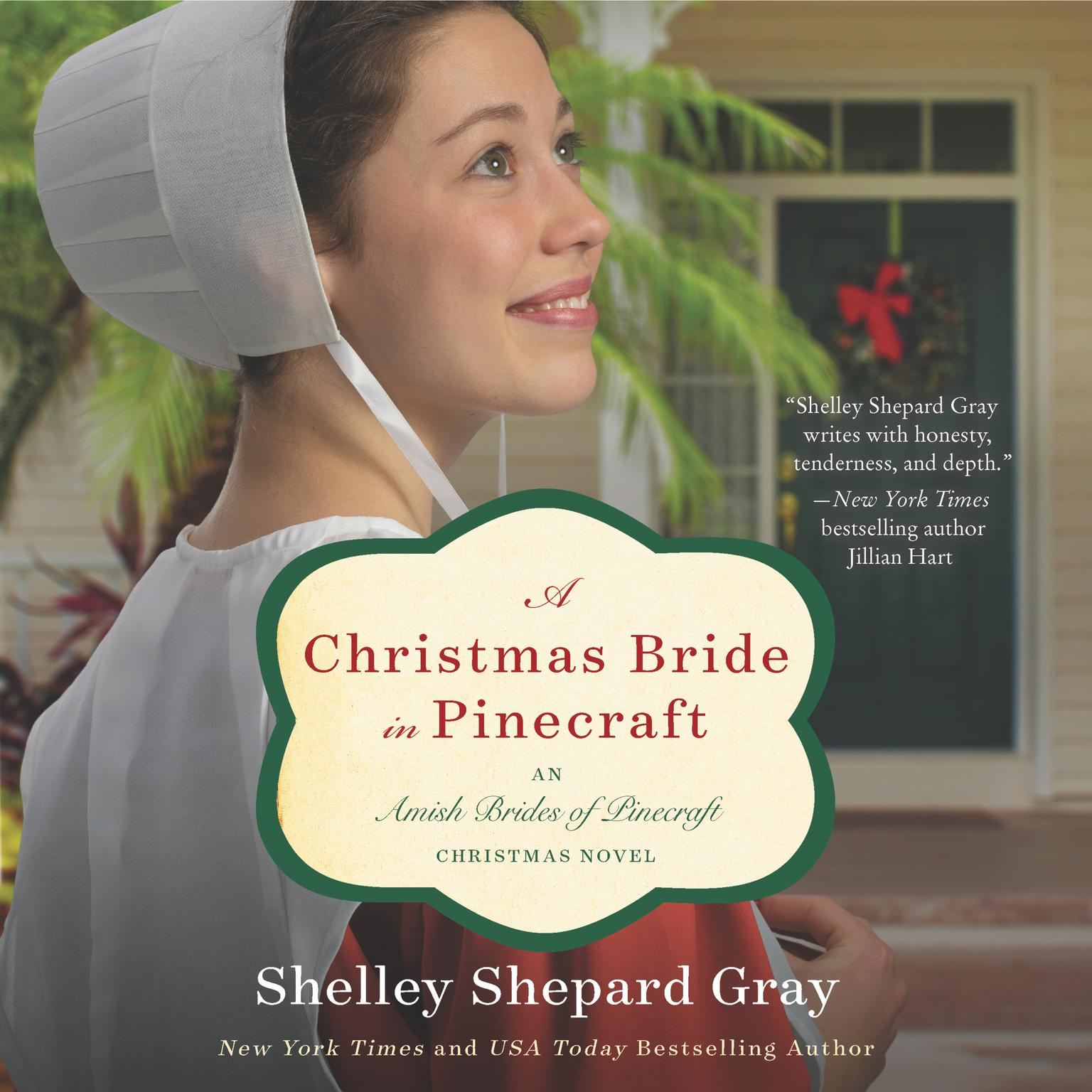 Printable A Christmas Bride in Pinecraft: An Amish Brides of Pinecraft Christmas Novel Audiobook Cover Art