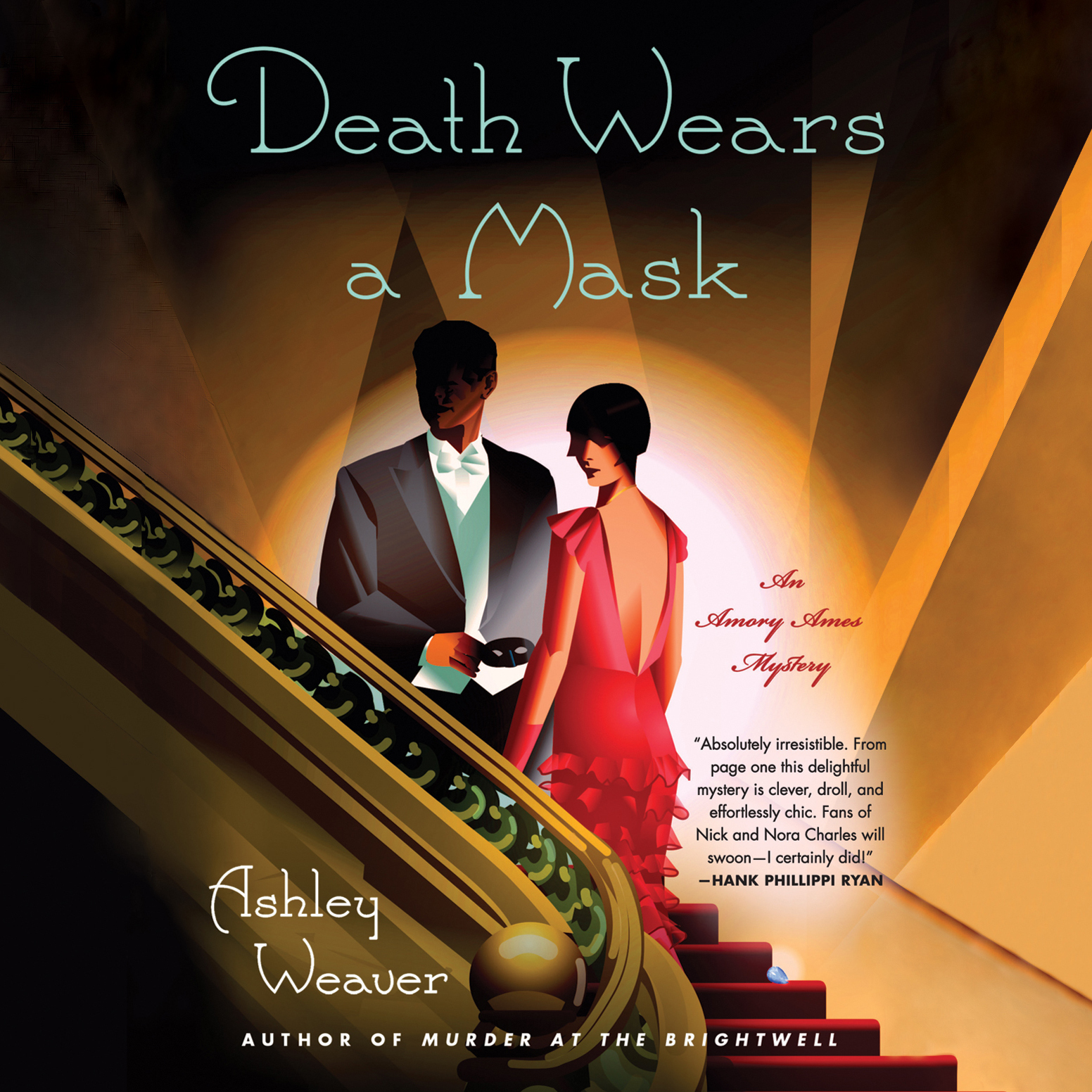 Printable Death Wears a Mask Audiobook Cover Art