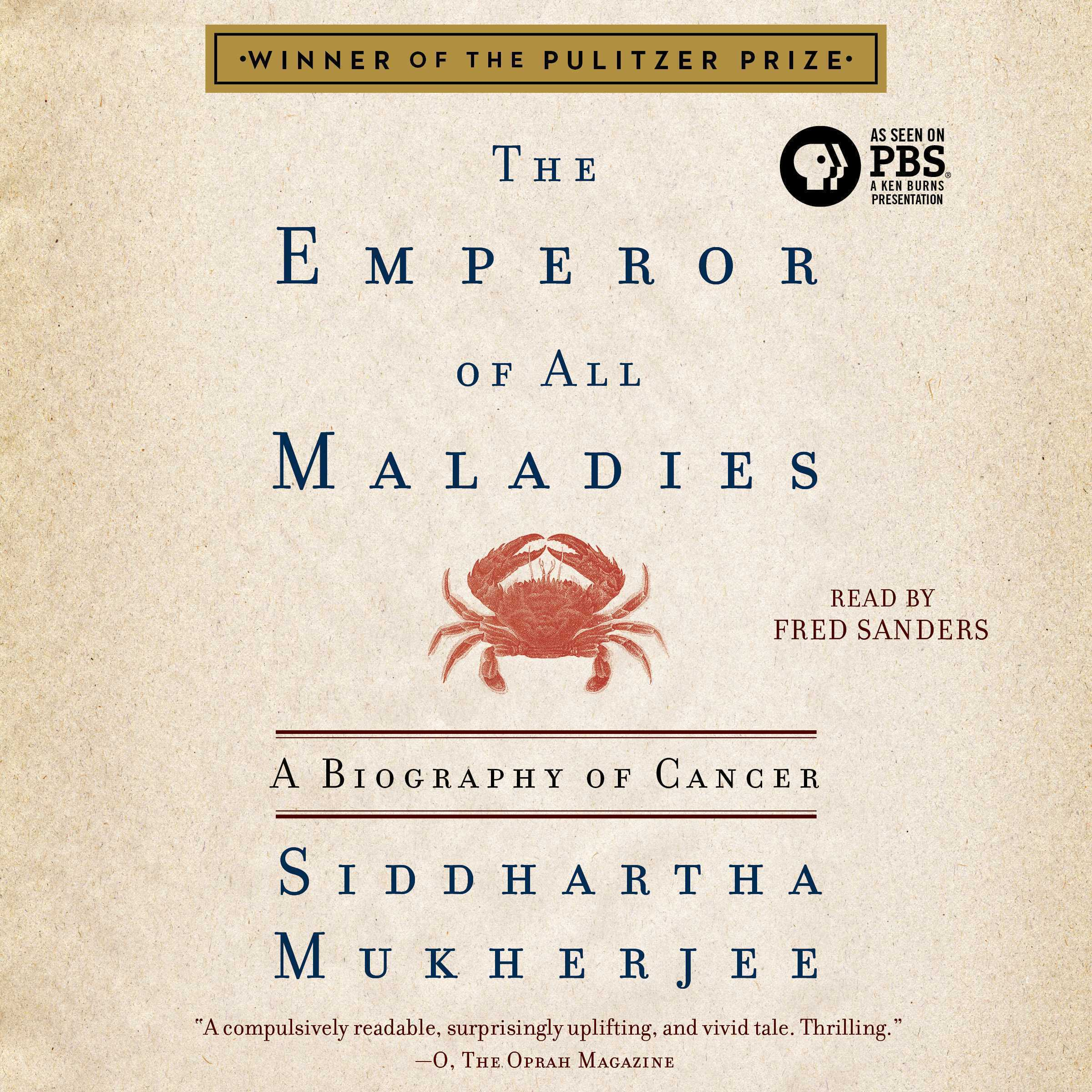 Printable The Emperor of All Maladies: A Biography of Cancer Audiobook Cover Art
