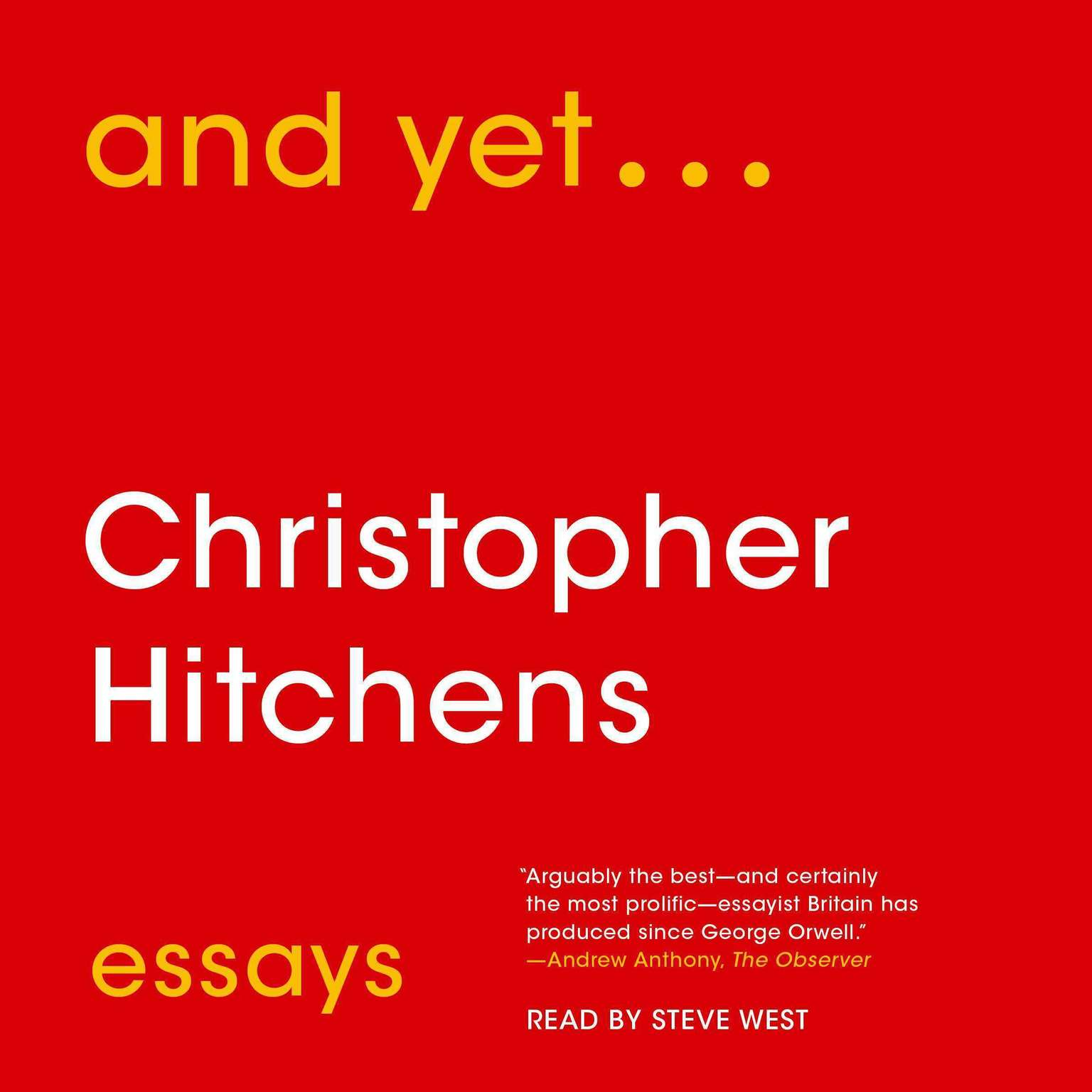 And Yet...: Essays Audiobook, by Christopher Hitchens