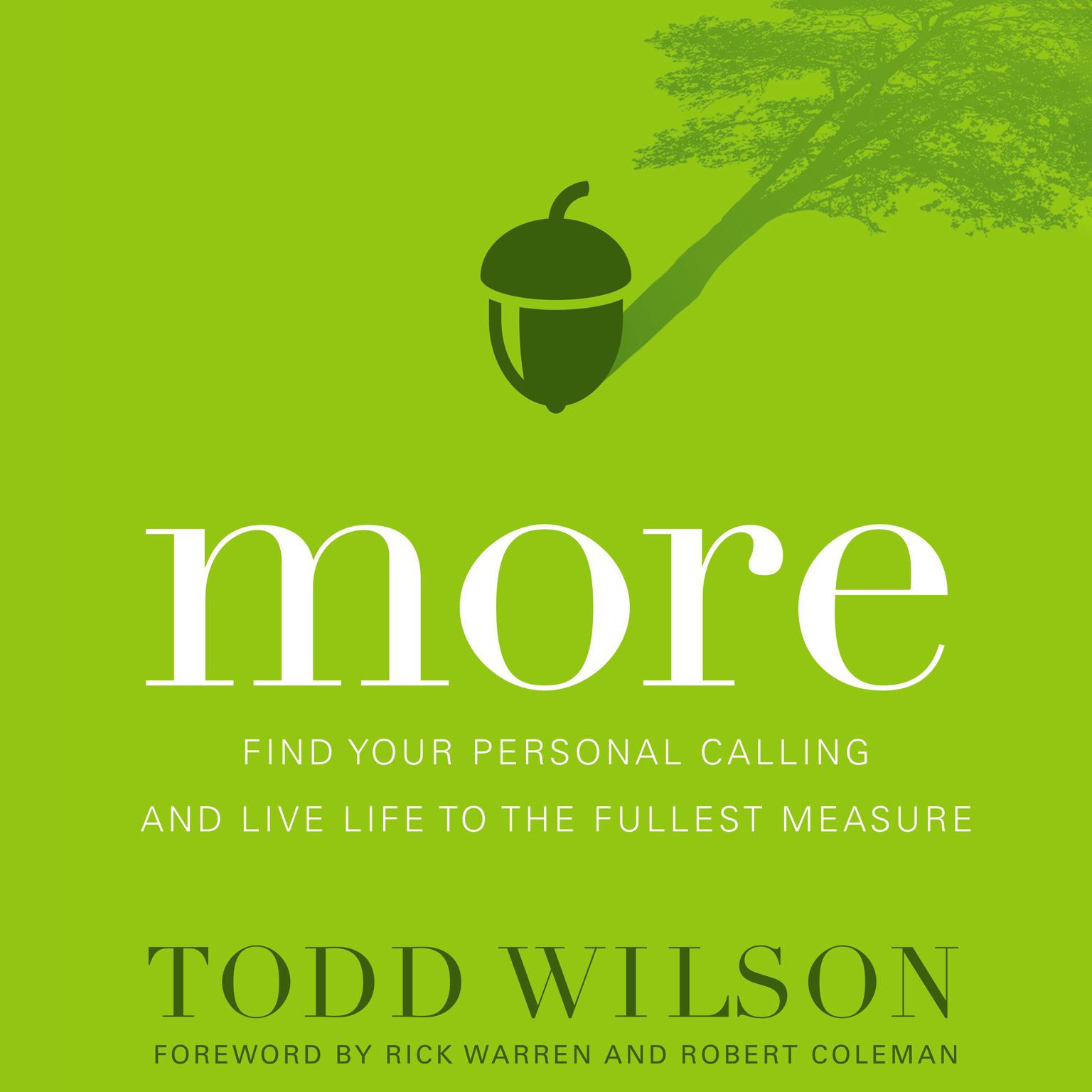 Printable More: Find Your Personal Calling and Live Life to the Fullest Measure Audiobook Cover Art