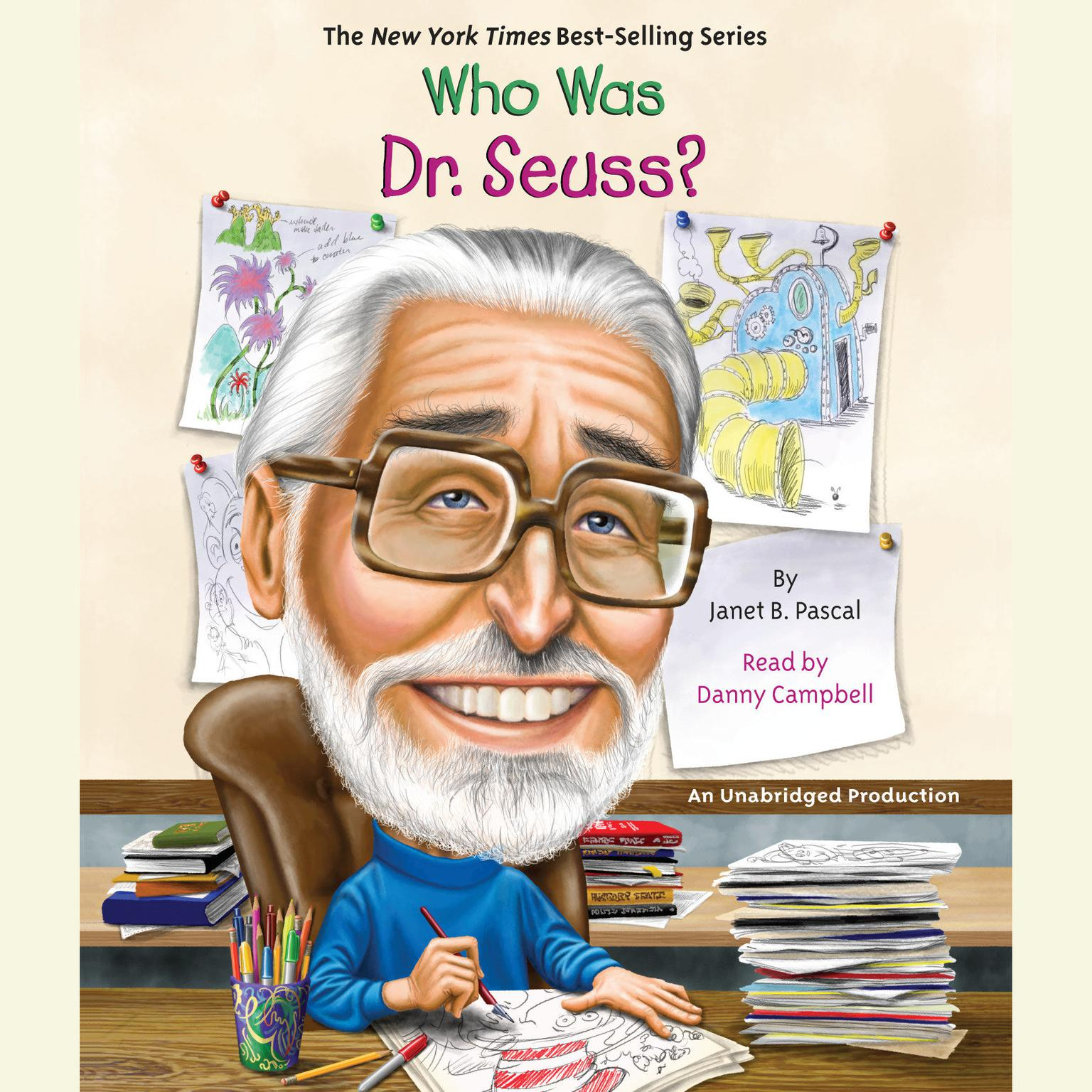 Printable Who Was Dr. Seuss? Audiobook Cover Art