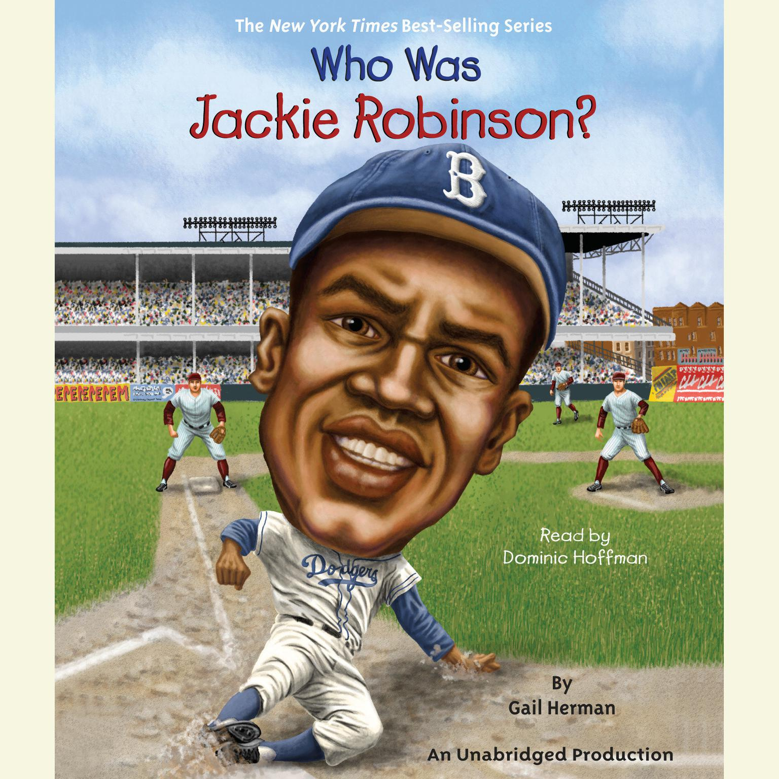 Printable Who Was Jackie Robinson? Audiobook Cover Art