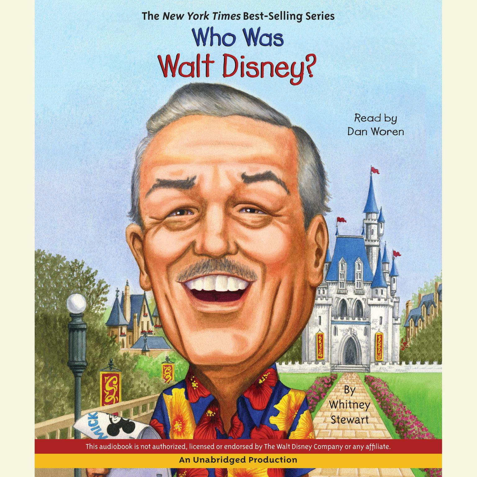 Printable Who Was Walt Disney? Audiobook Cover Art