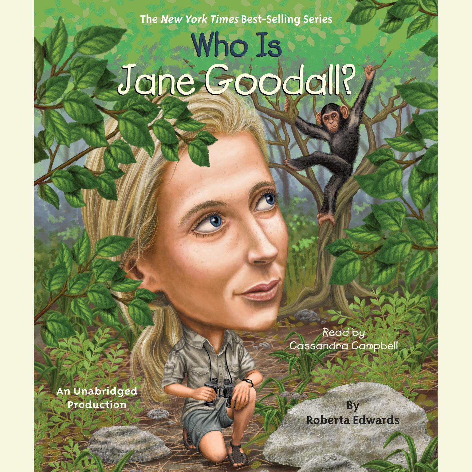 Printable Who Is Jane Goodall? Audiobook Cover Art