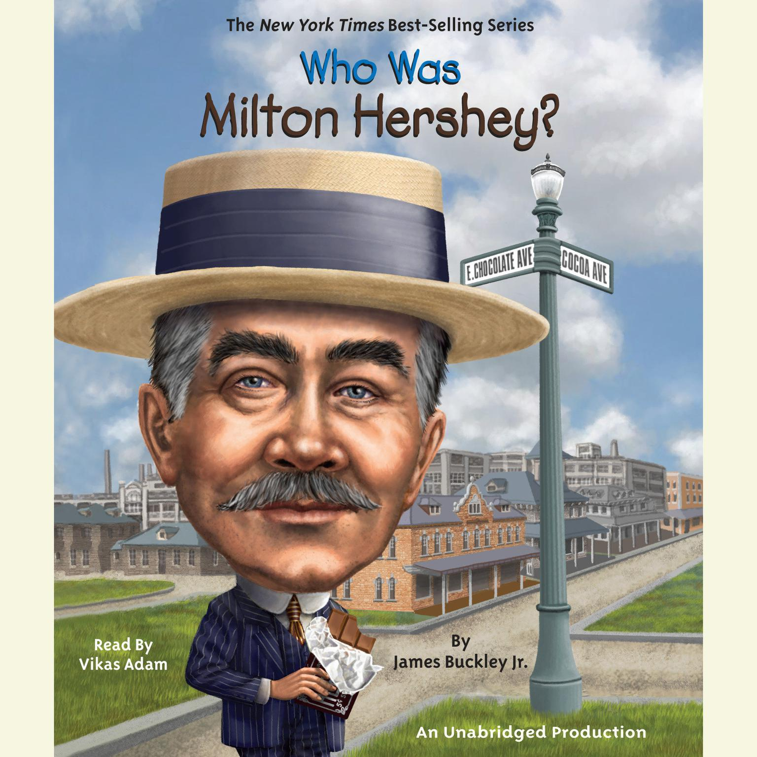 Printable Who Was Milton Hershey? Audiobook Cover Art
