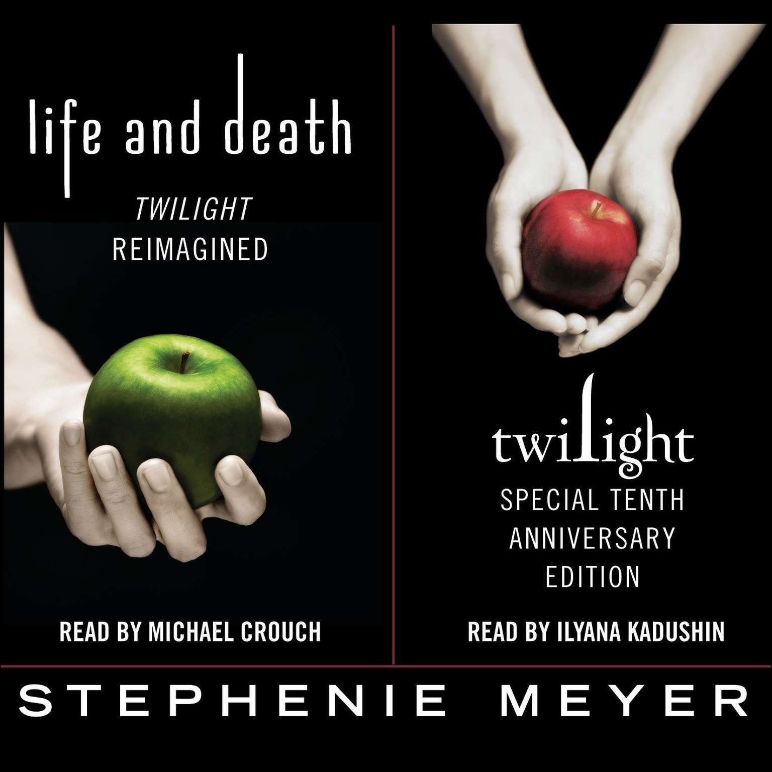 Printable Twilight Tenth Anniversary/Life and Death Dual Edition Audiobook Cover Art