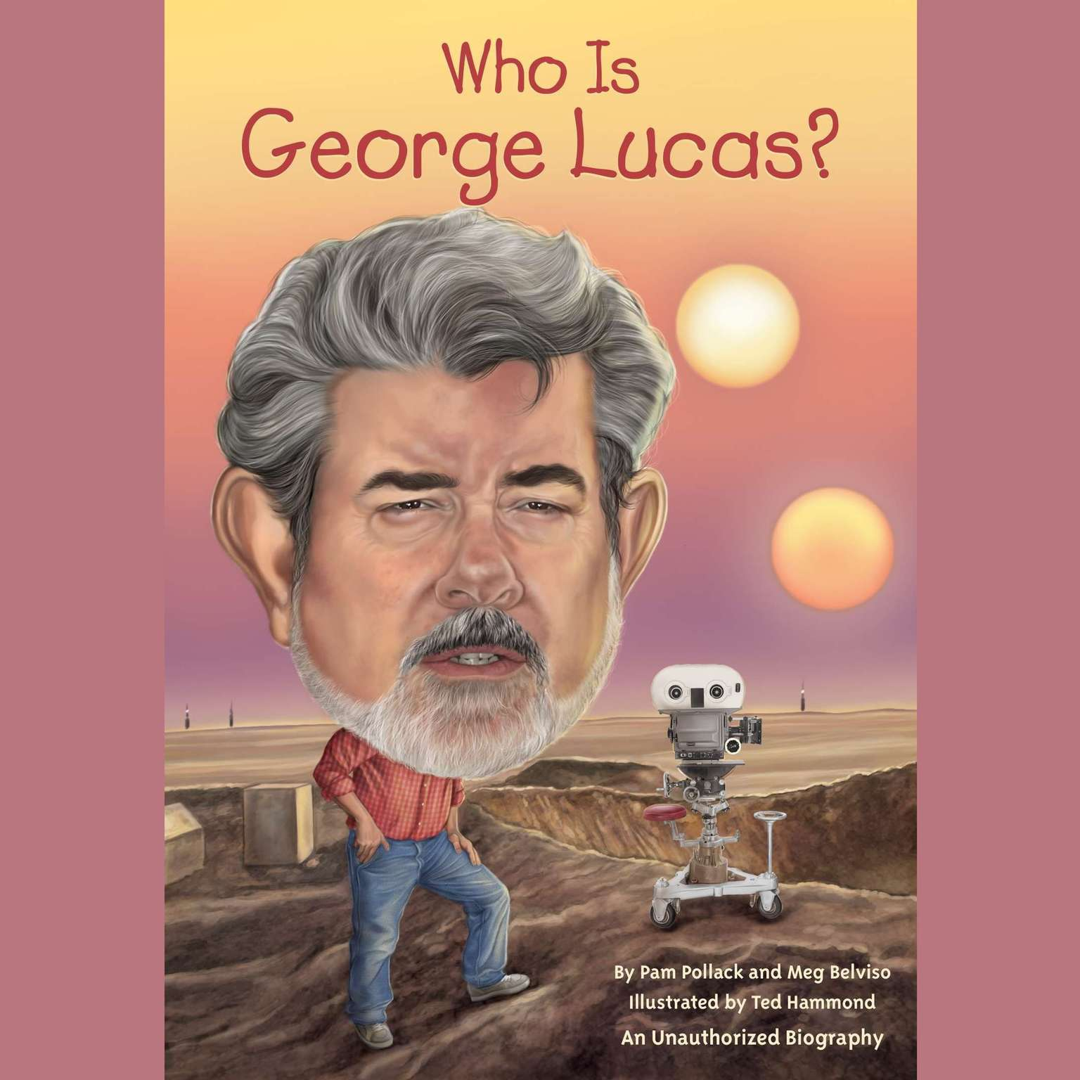 Printable Who Is George Lucas? Audiobook Cover Art