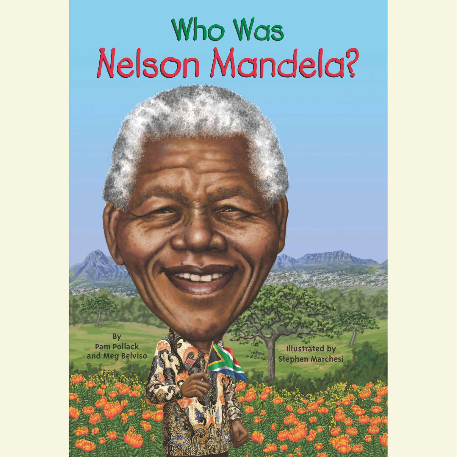 Printable Who Was Nelson Mandela? Audiobook Cover Art