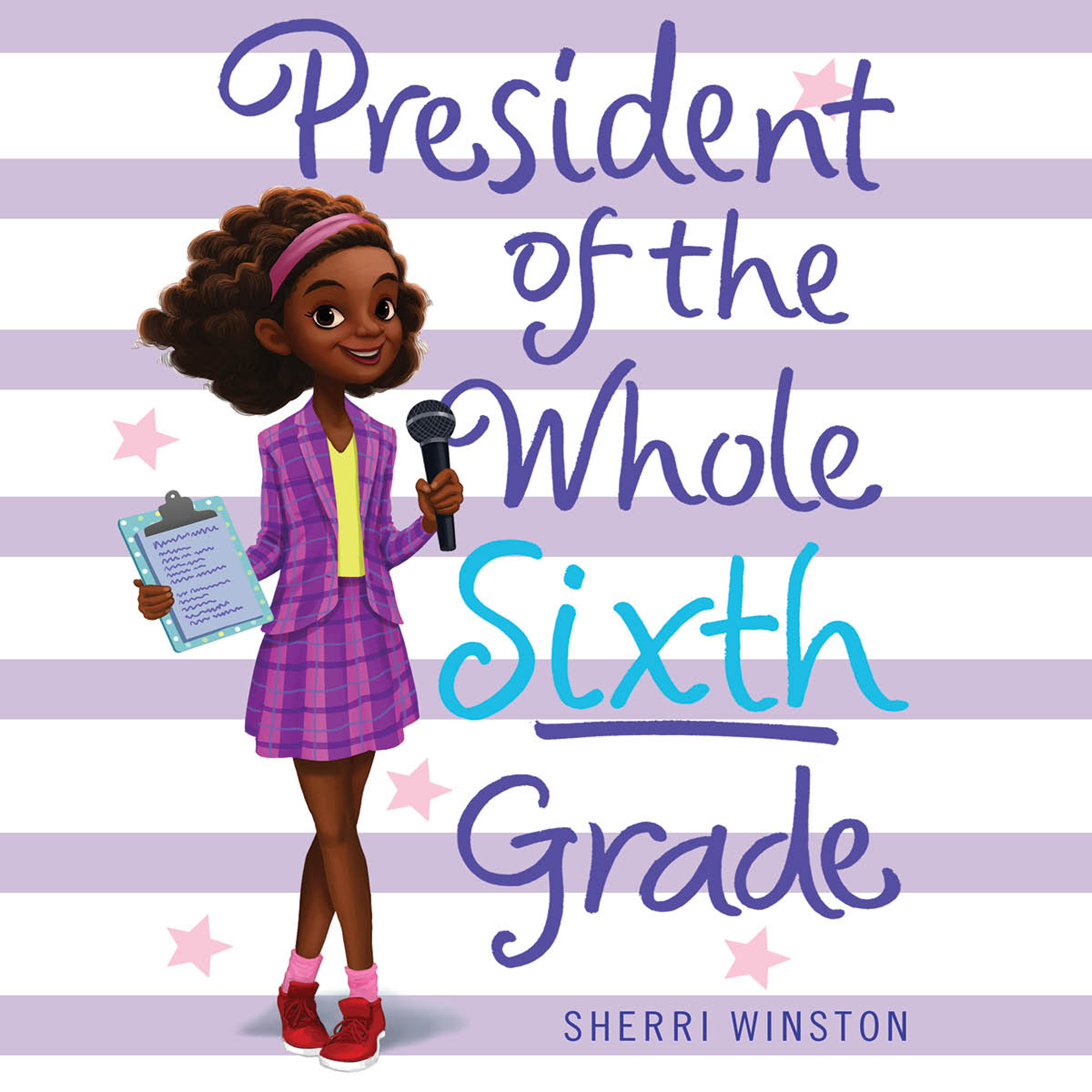 Printable President of the Whole Sixth Grade Audiobook Cover Art
