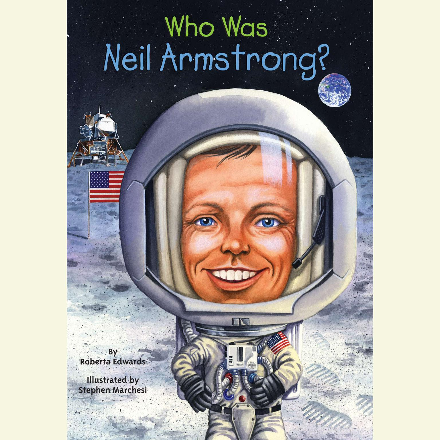 Printable Who Was Neil Armstrong? Audiobook Cover Art