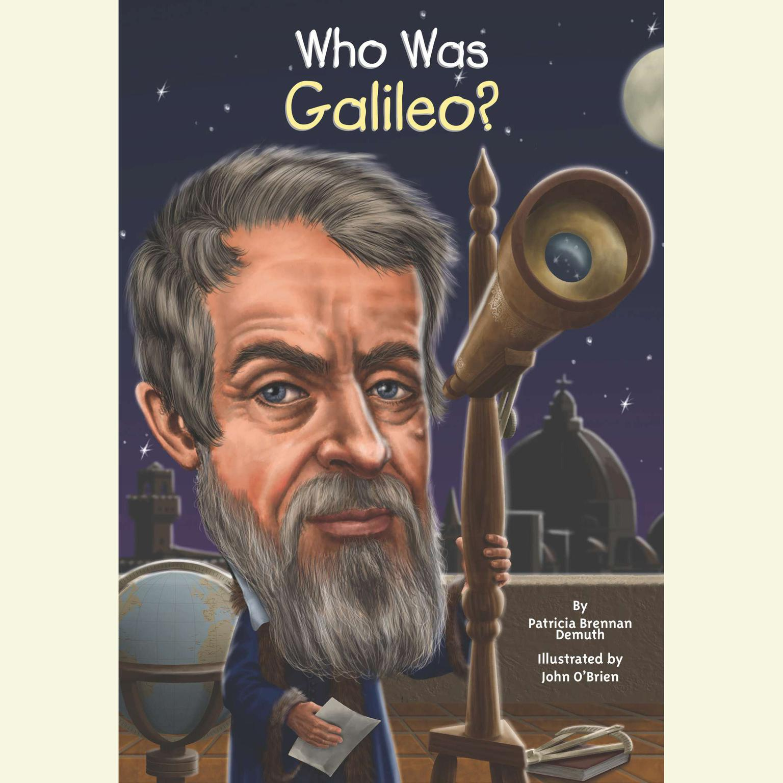 Printable Who Was Galileo? Audiobook Cover Art