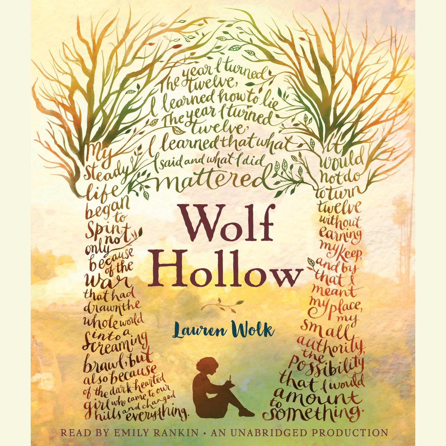 Printable Wolf Hollow Audiobook Cover Art