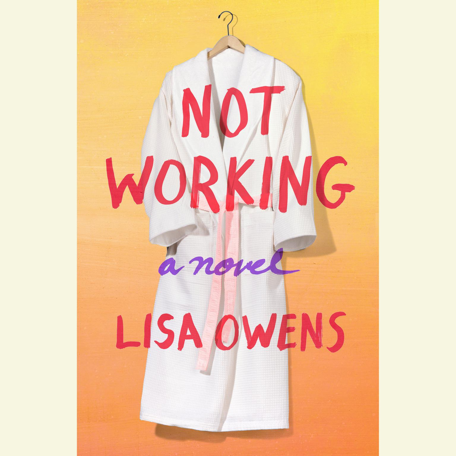 Printable Not Working: A Novel Audiobook Cover Art