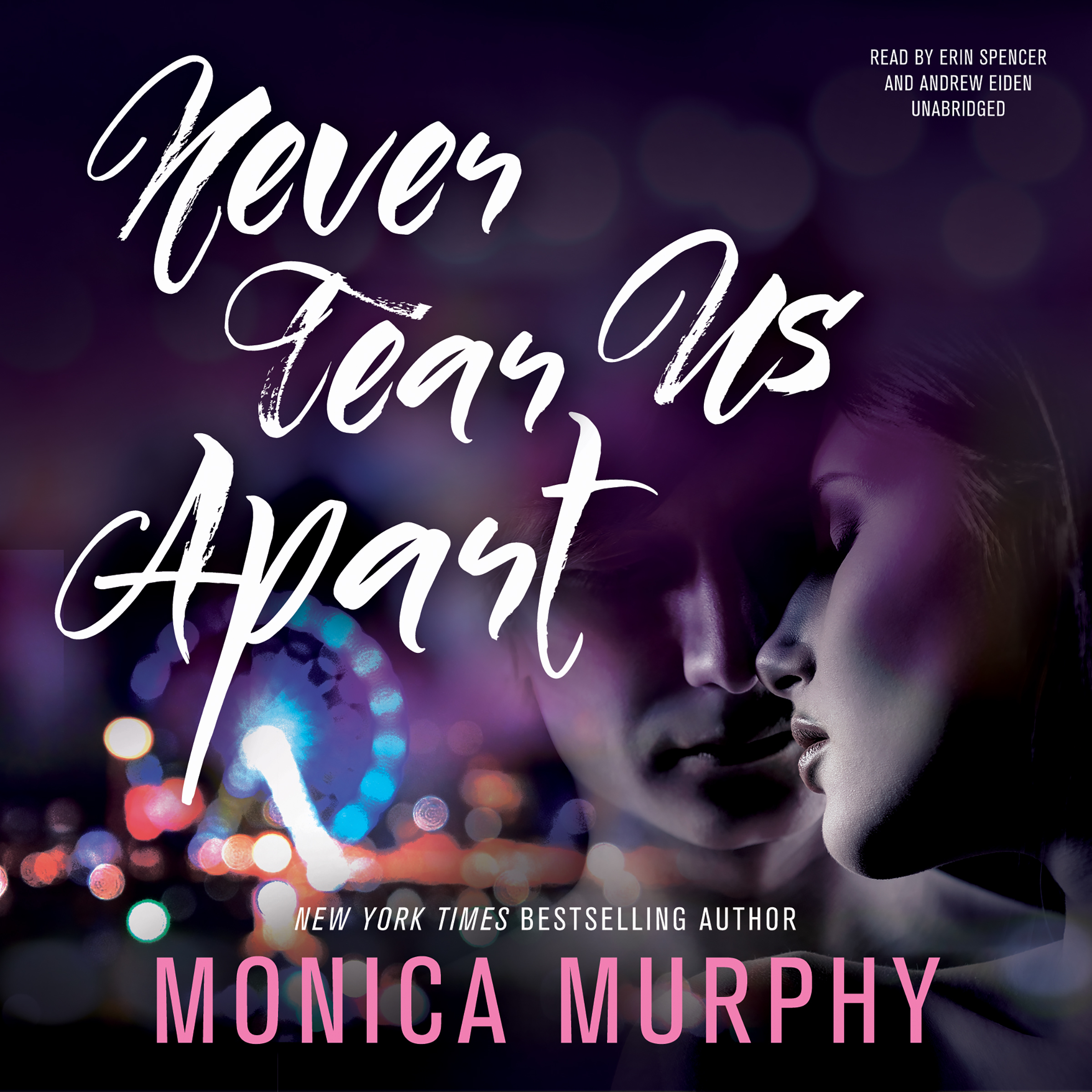 Printable Never Tear Us Apart Audiobook Cover Art