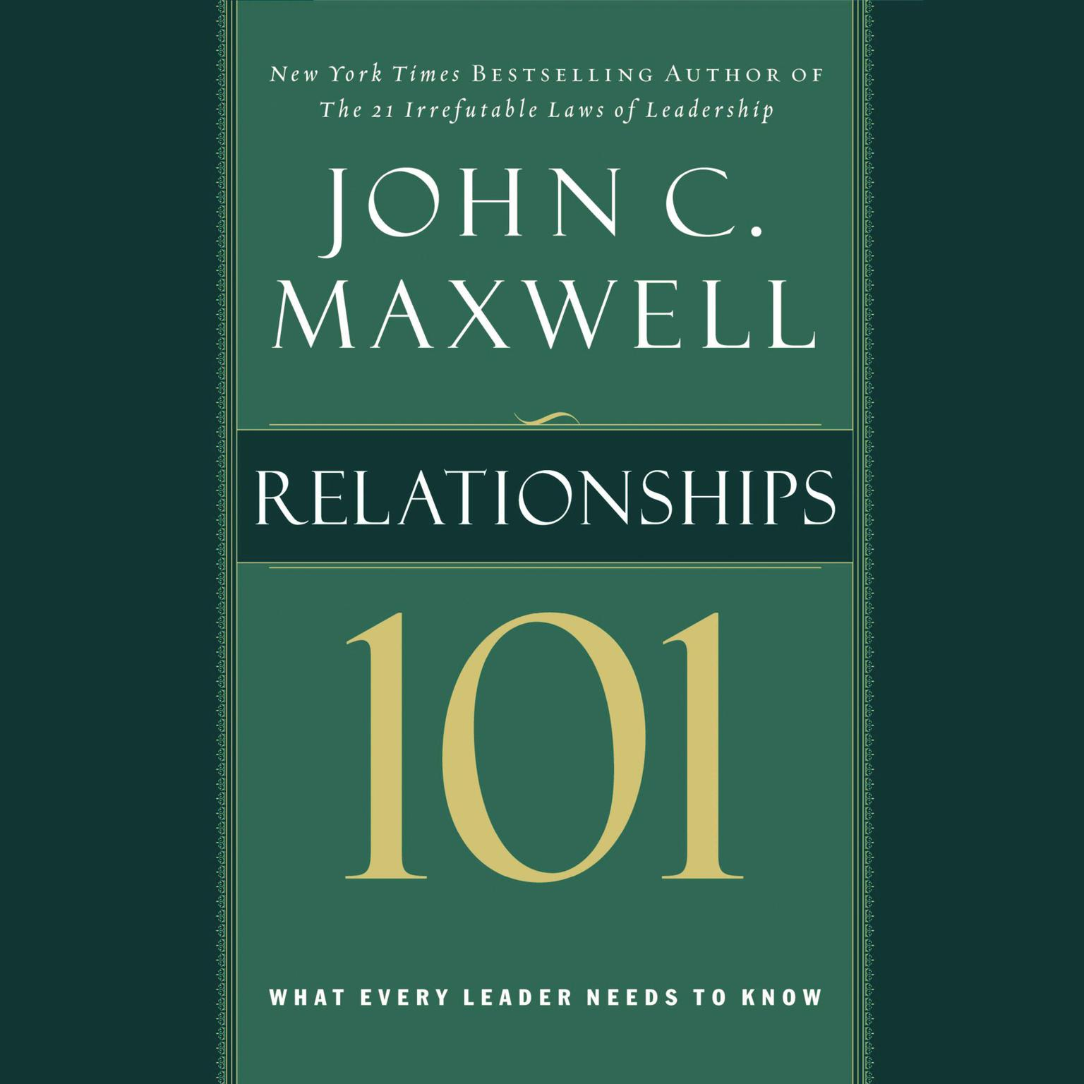 Printable Relationships 101: What Every Leader Needs to Know Audiobook Cover Art