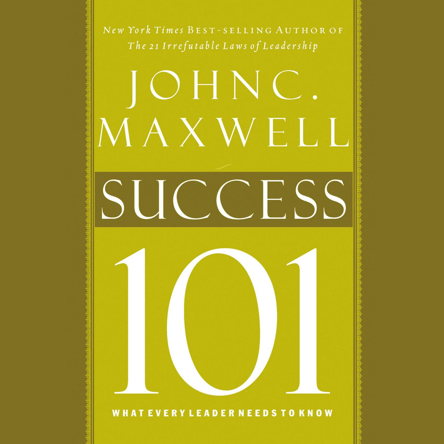Printable Success 101: What Every Leader Needs to Know Audiobook Cover Art
