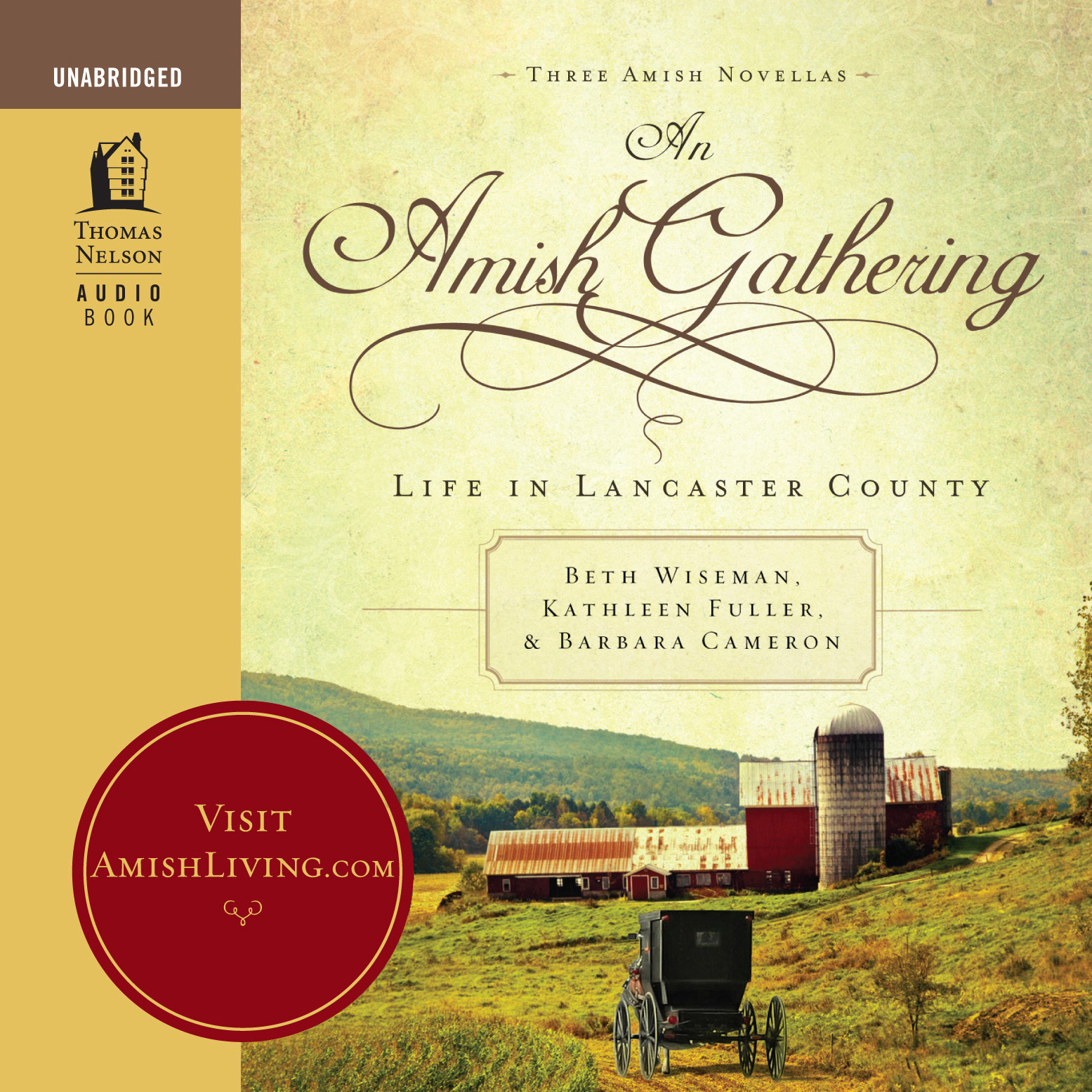 Printable An Amish Gathering: Life in Lancaster County Audiobook Cover Art