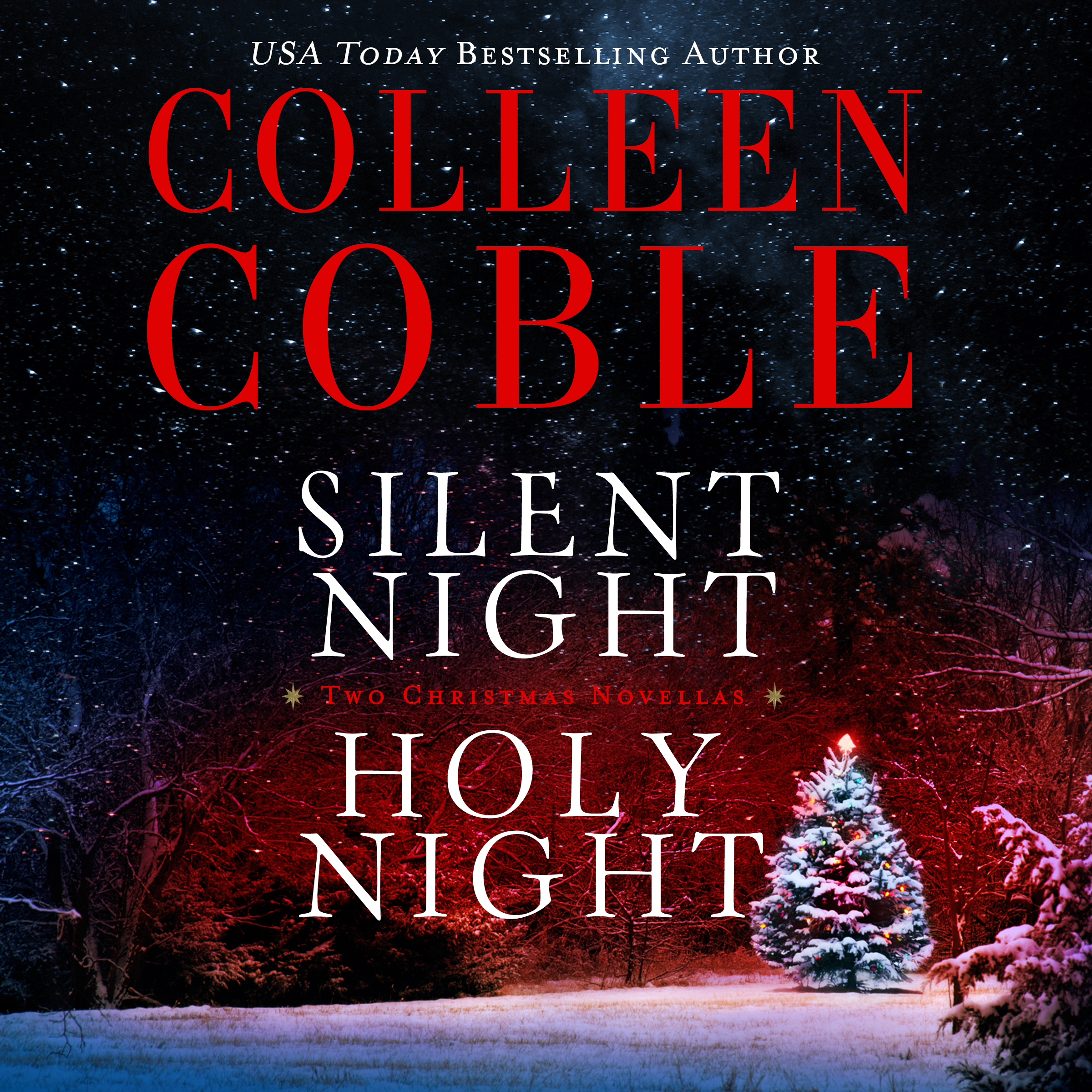 Printable Silent Night, Holy Night: A Colleen Coble Christmas Collection Audiobook Cover Art